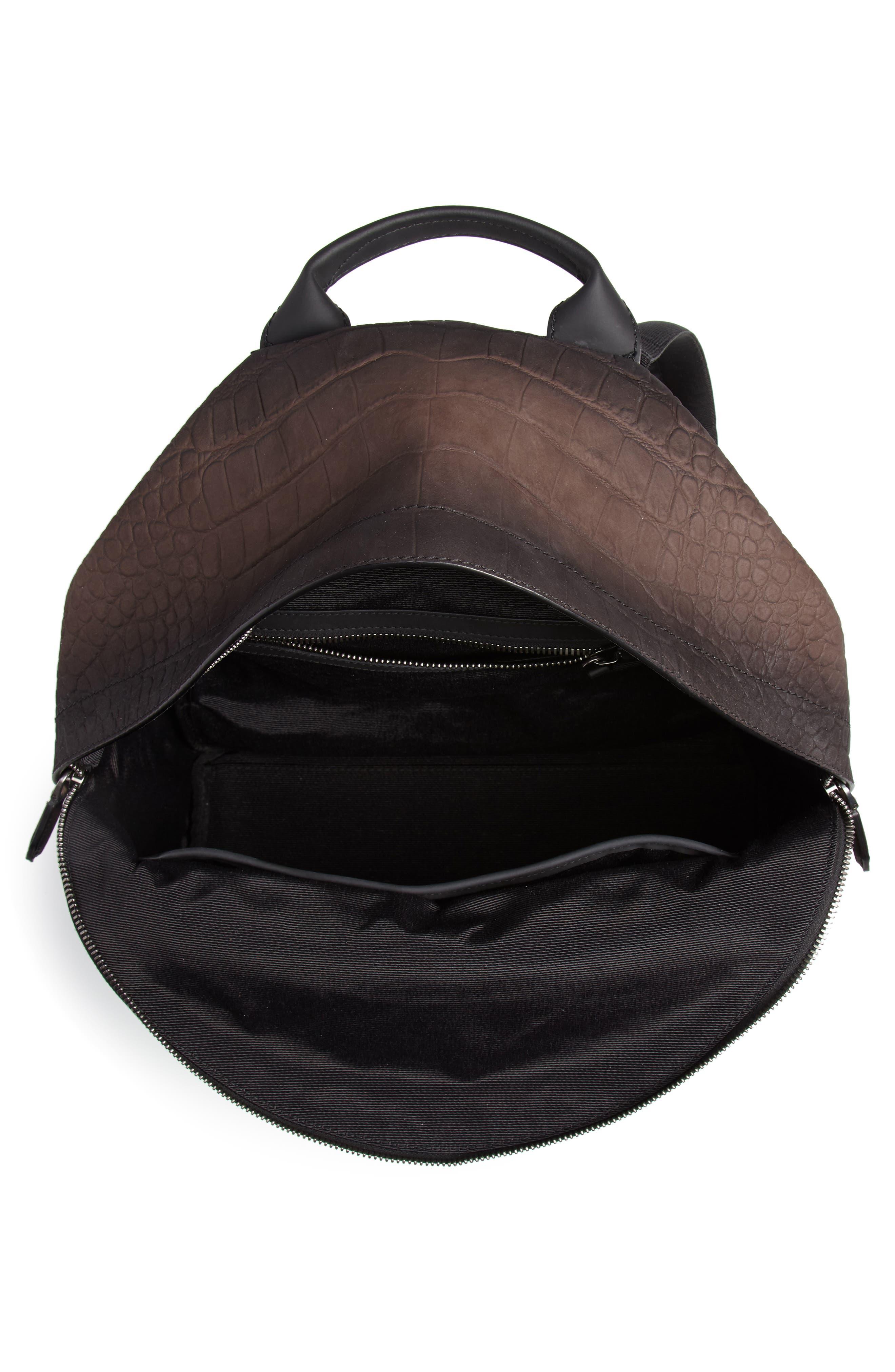 Firenze Leather Backpack,                             Alternate thumbnail 4, color,                             Moro