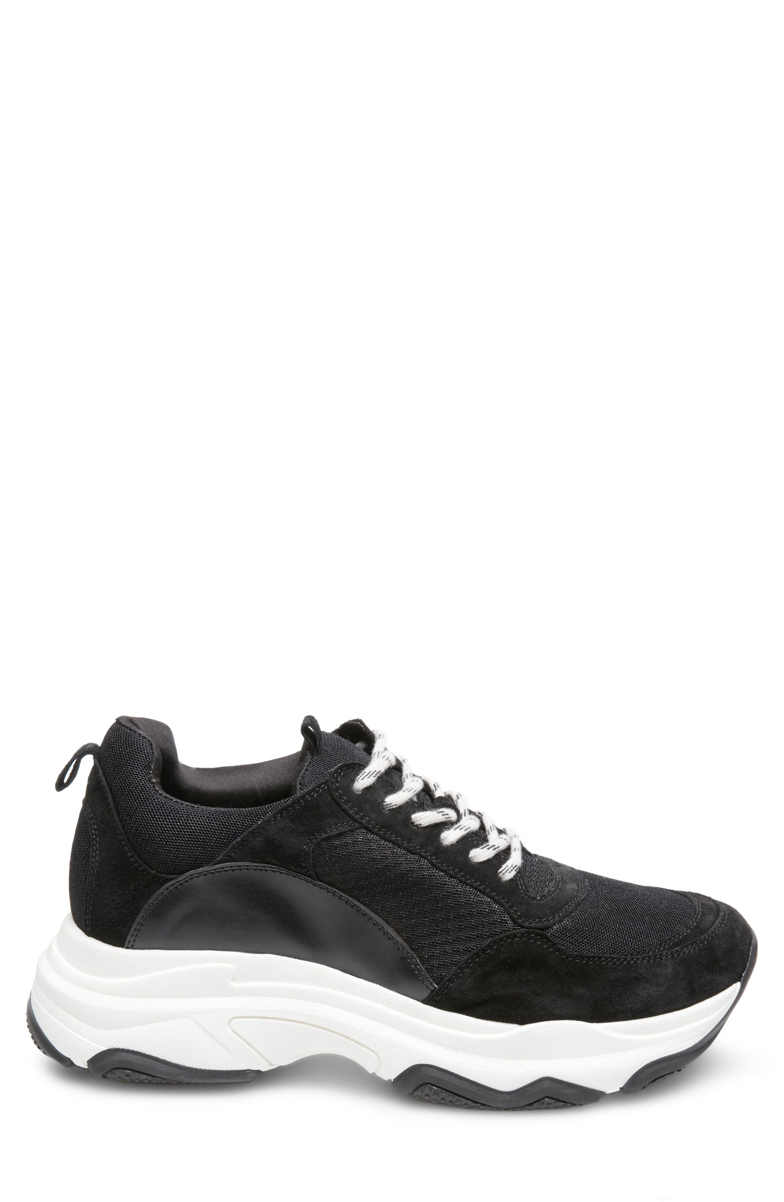Russell Platform Sneaker,                             Alternate thumbnail 2, color,                             Black Leather