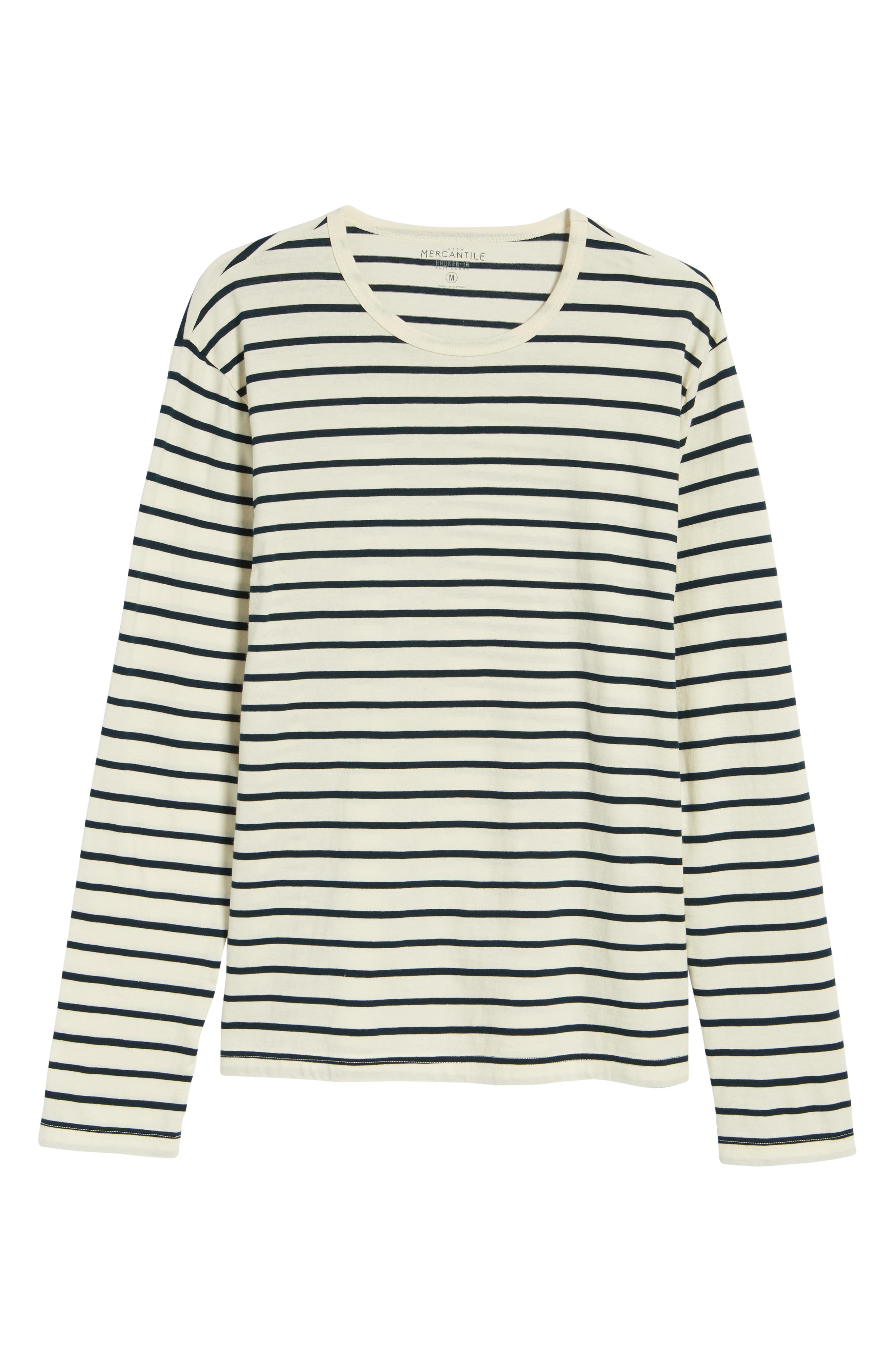 Mercantile Stripe Long Sleeve T-Shirt,                             Alternate thumbnail 6, color,                             Mountain White