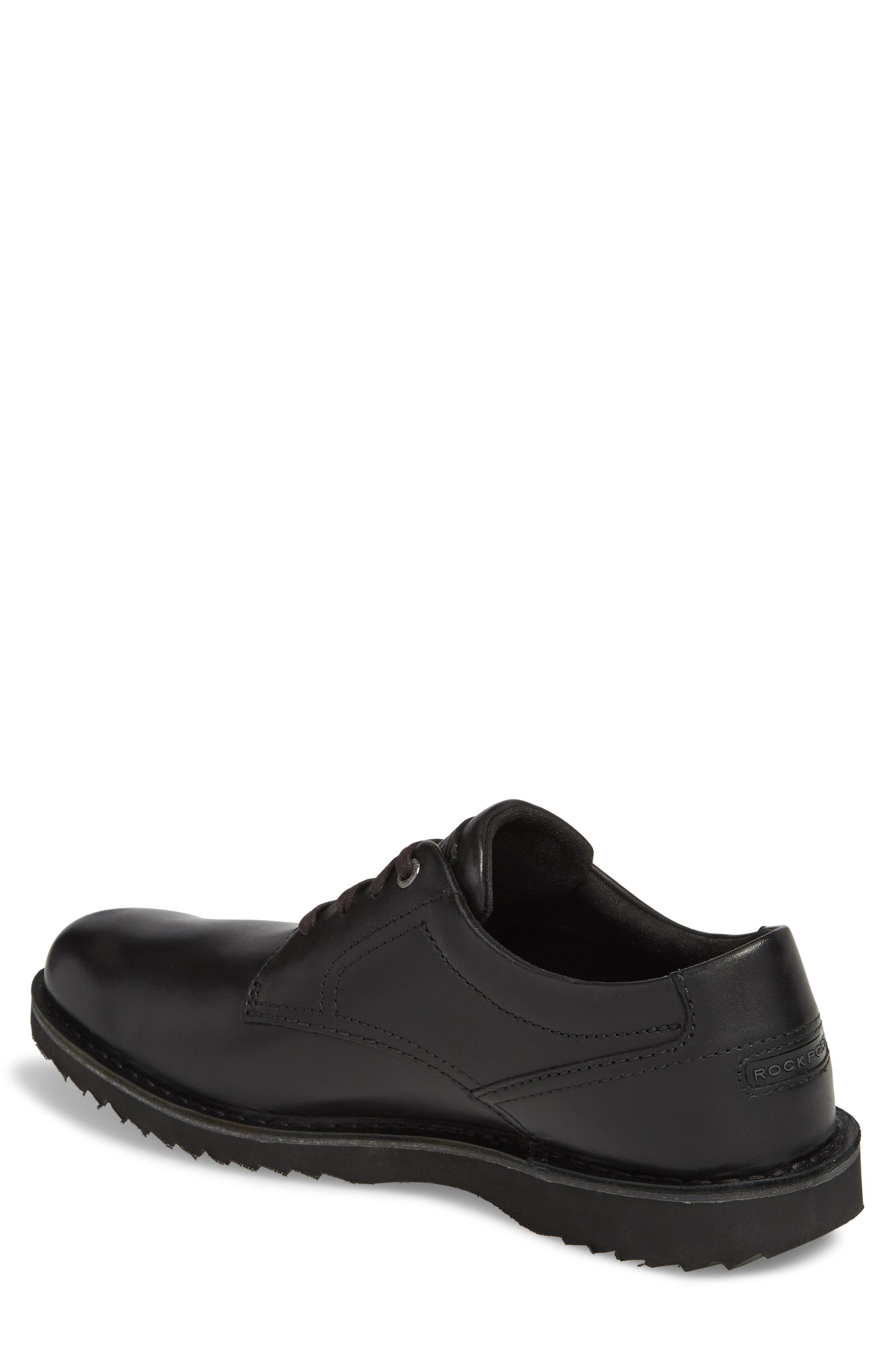 Cabot Plain Toe Derby,                             Alternate thumbnail 2, color,                             Black Leather