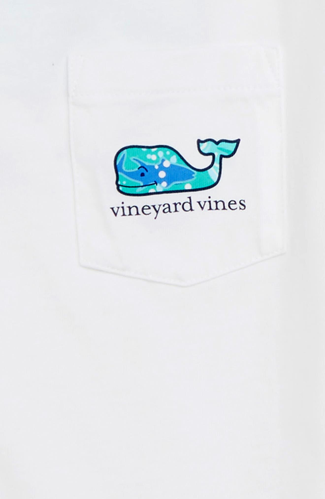 School of Tuna Whale Pocket T-Shirt,                             Alternate thumbnail 3, color,                             White Cap