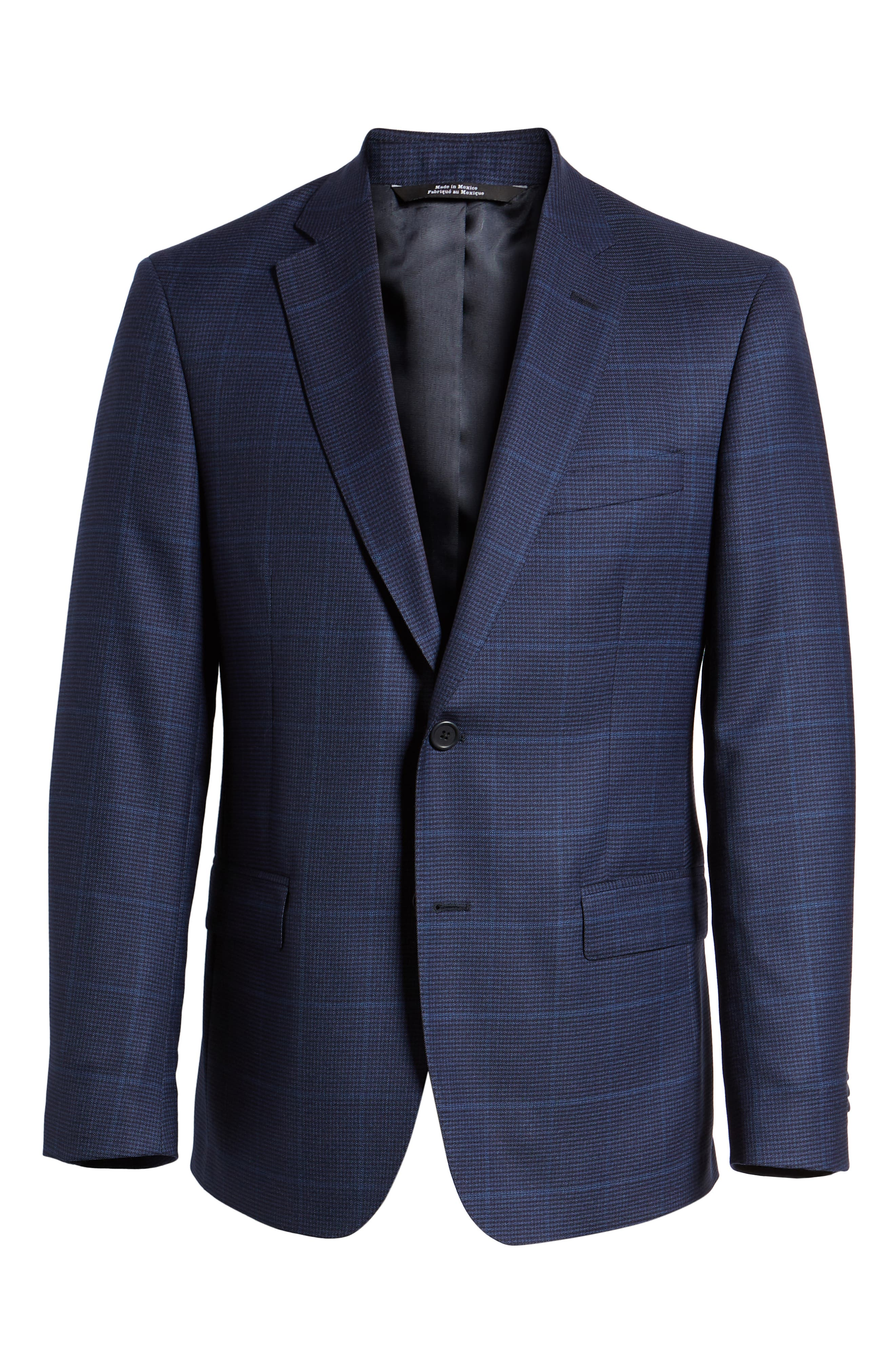 Traditional Fit Windowpane Wool Sport Coat,                             Alternate thumbnail 6, color,                             Blue