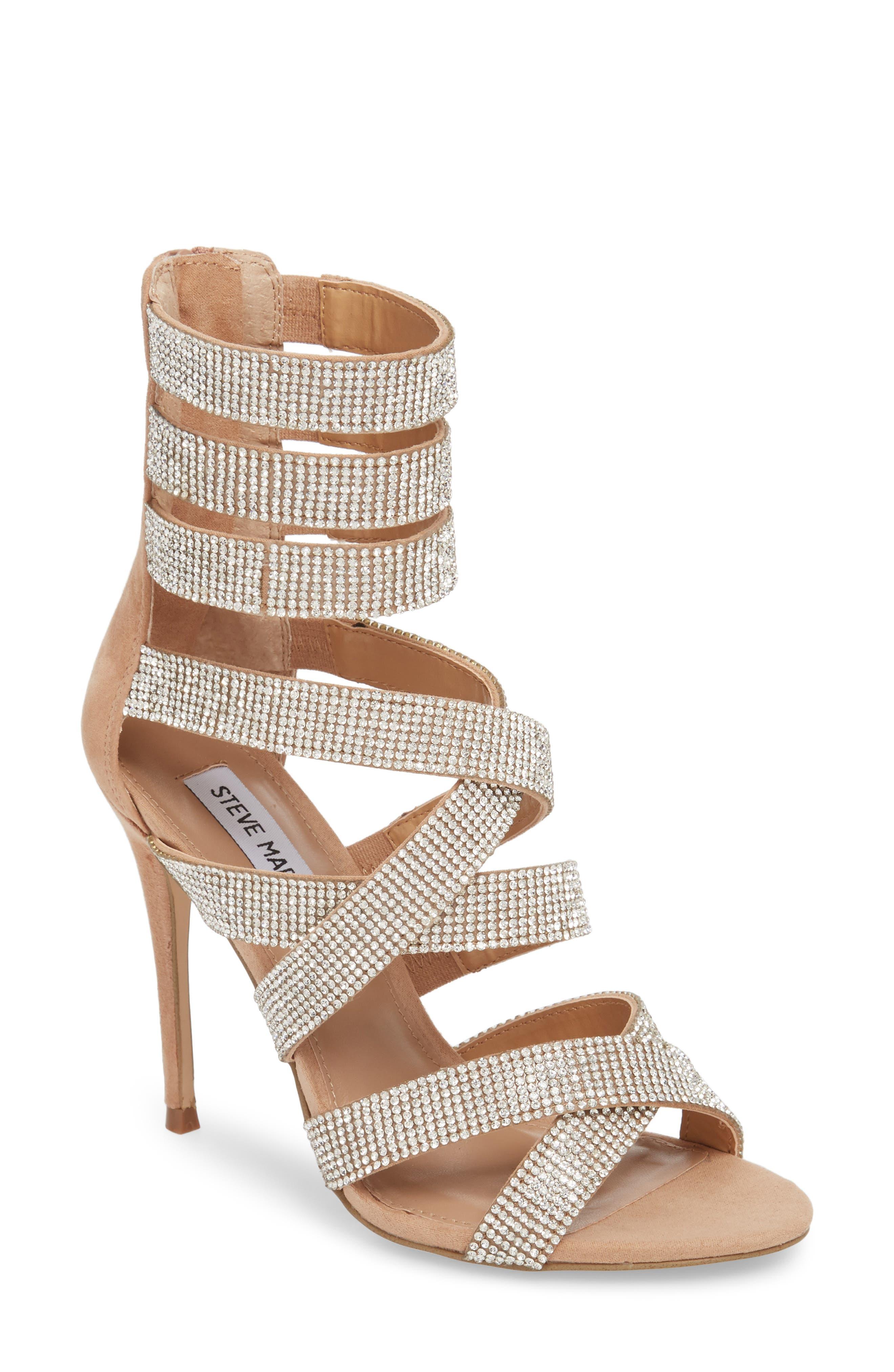 Malika Crystal Embellished Sandal,                         Main,                         color, Rhinestone