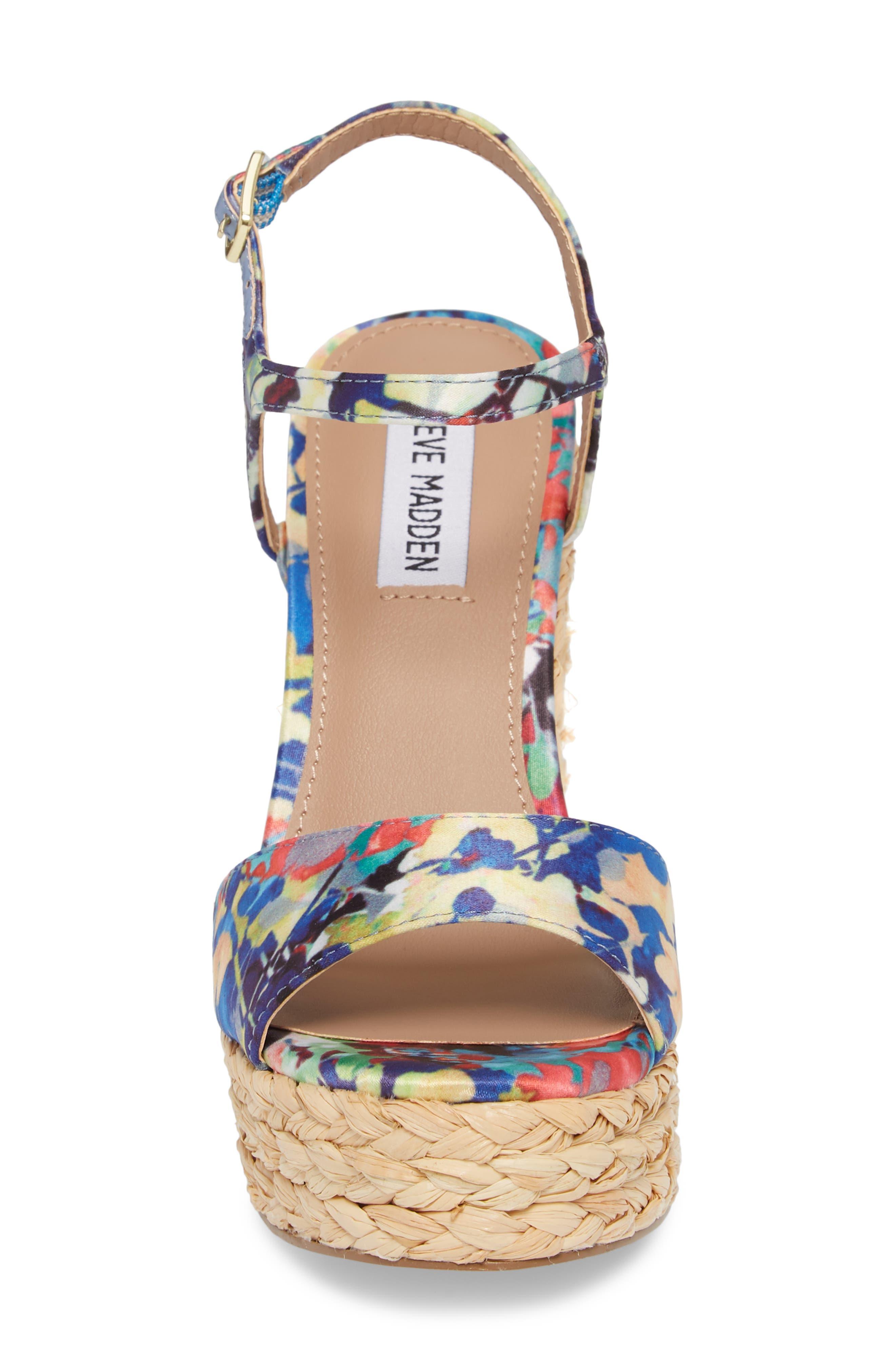 Tokin Espadrille Wedge Sandal,                             Alternate thumbnail 6, color,                             Floral Multi