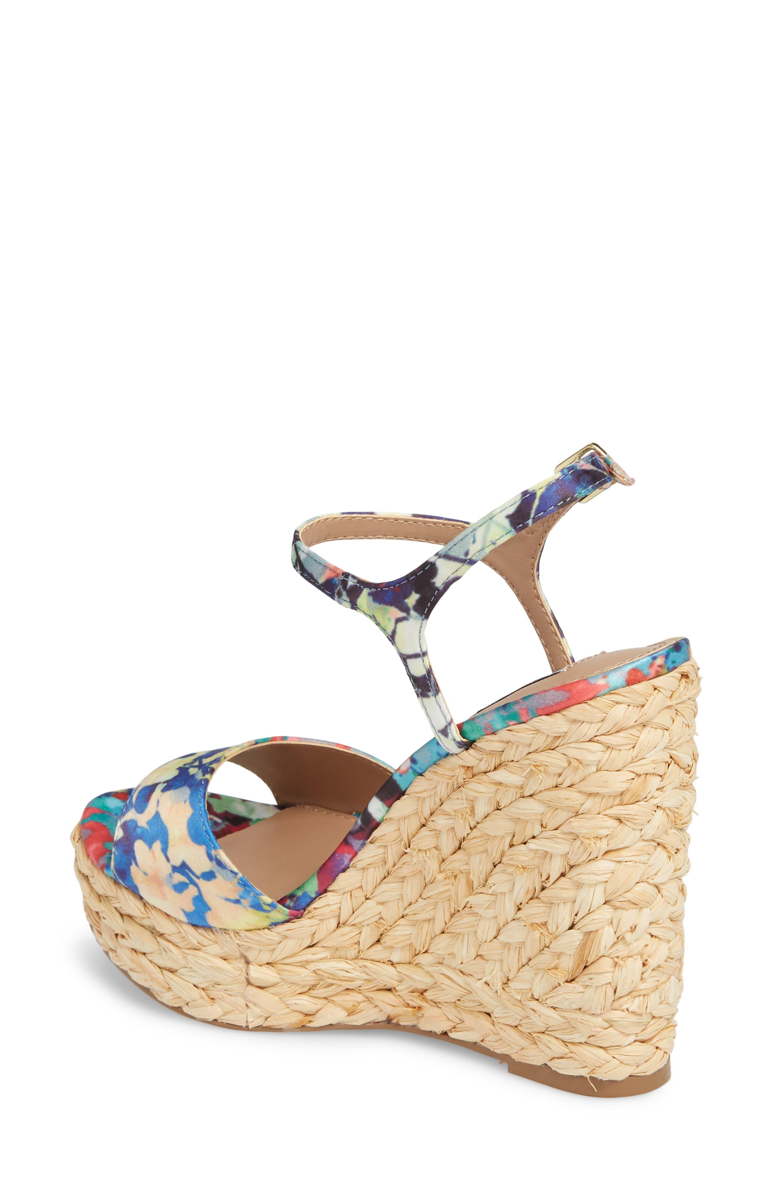 Tokin Espadrille Wedge Sandal,                             Alternate thumbnail 2, color,                             Floral Multi