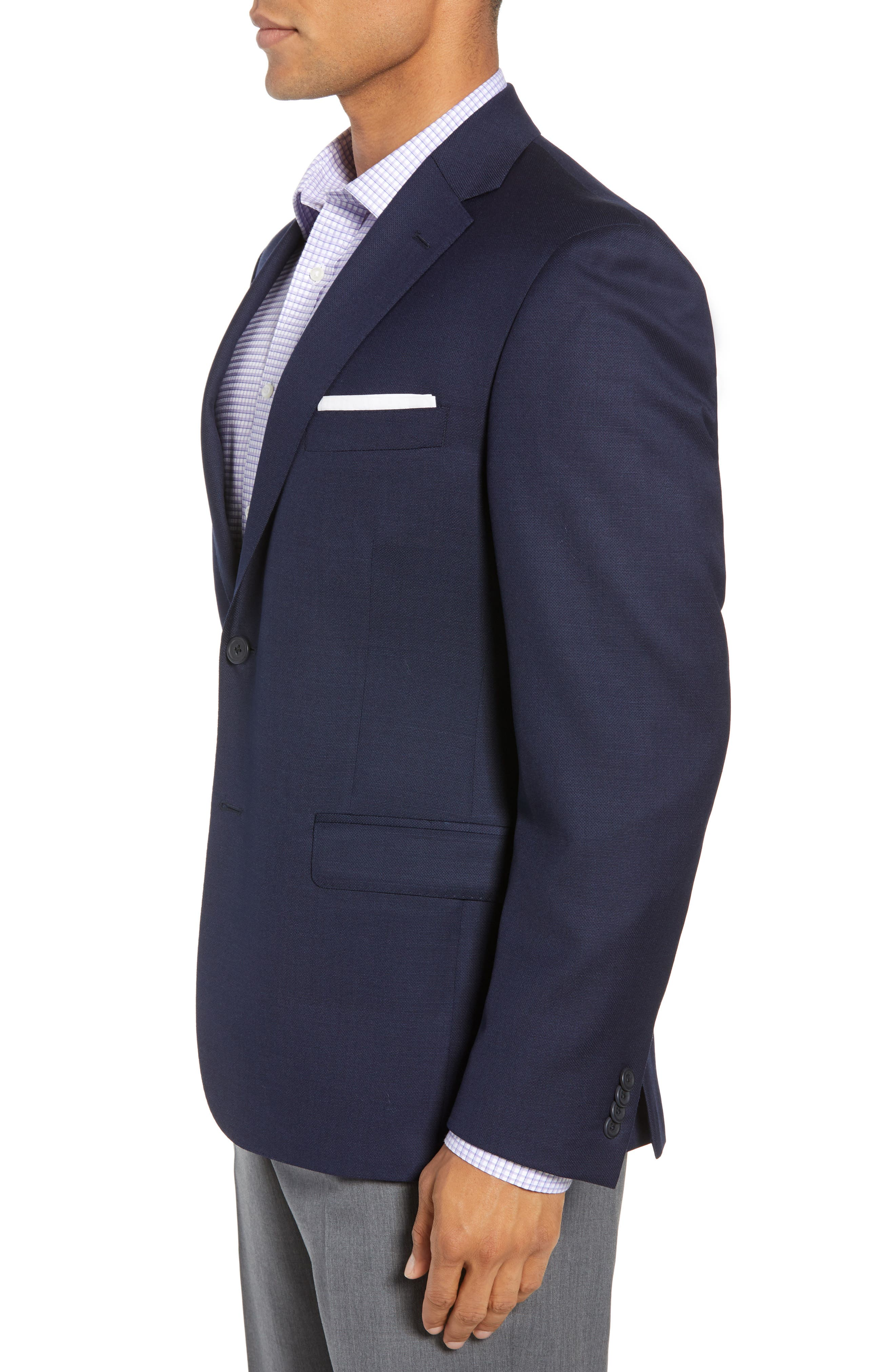 Traditional Fit Wool Blazer,                             Alternate thumbnail 5, color,                             Navy