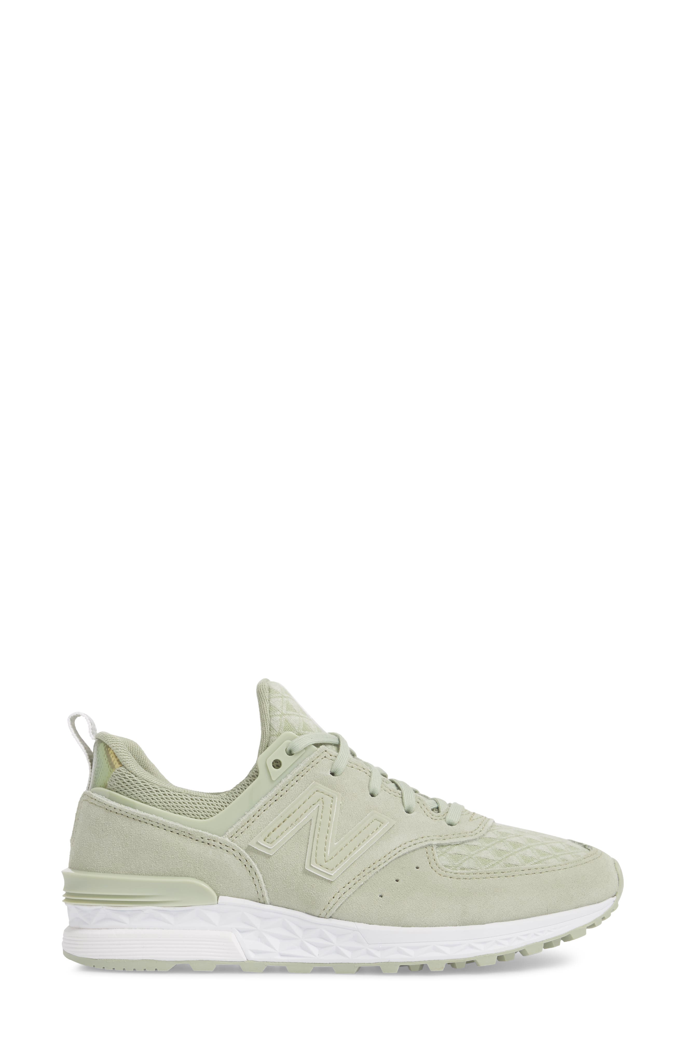 '574' Sneaker,                             Alternate thumbnail 3, color,                             Silver Mint