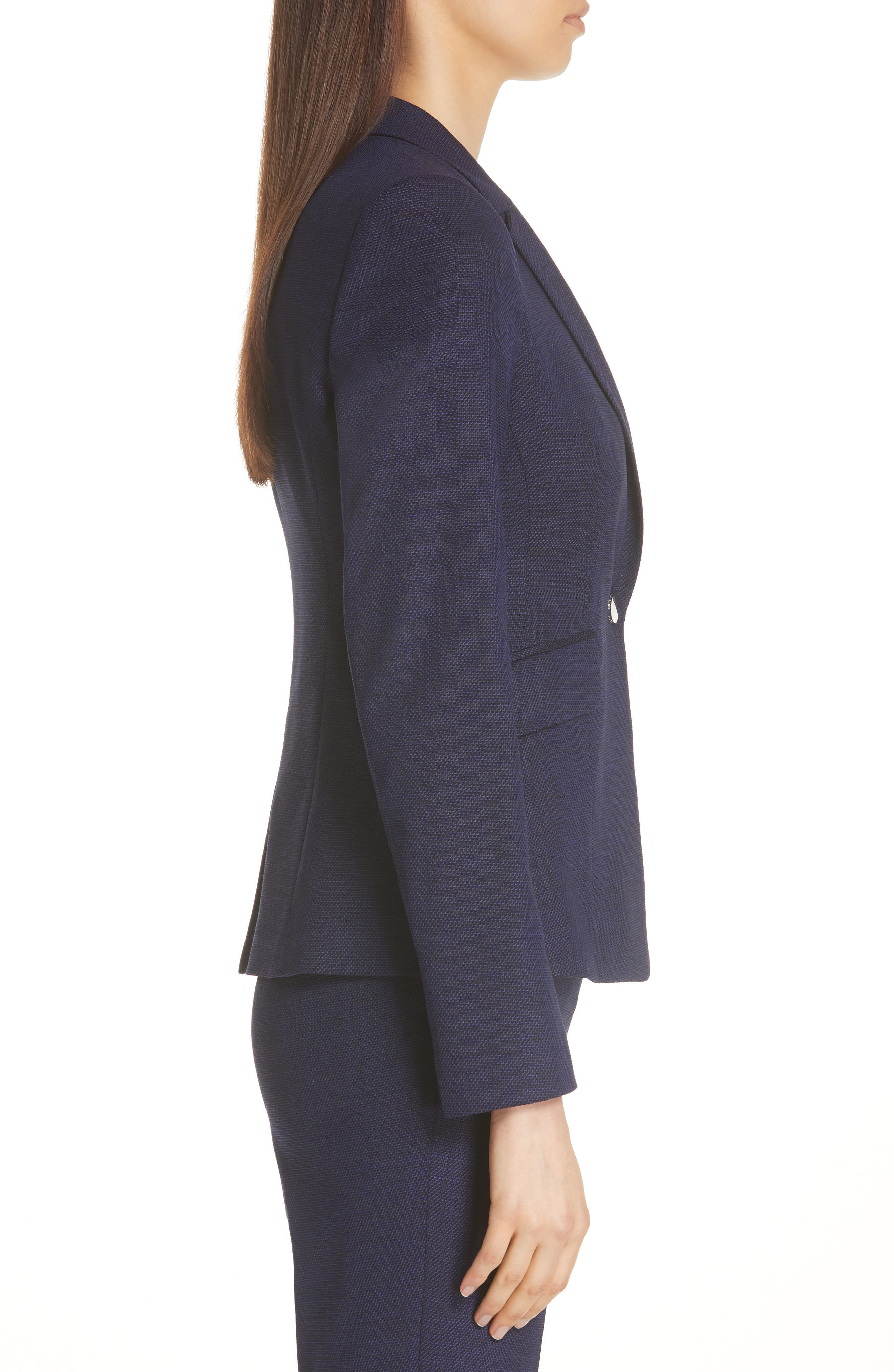 Jibalena Mini Glencheck Suit Jacket,                             Alternate thumbnail 3, color,                             Deep Lilac Fantasy