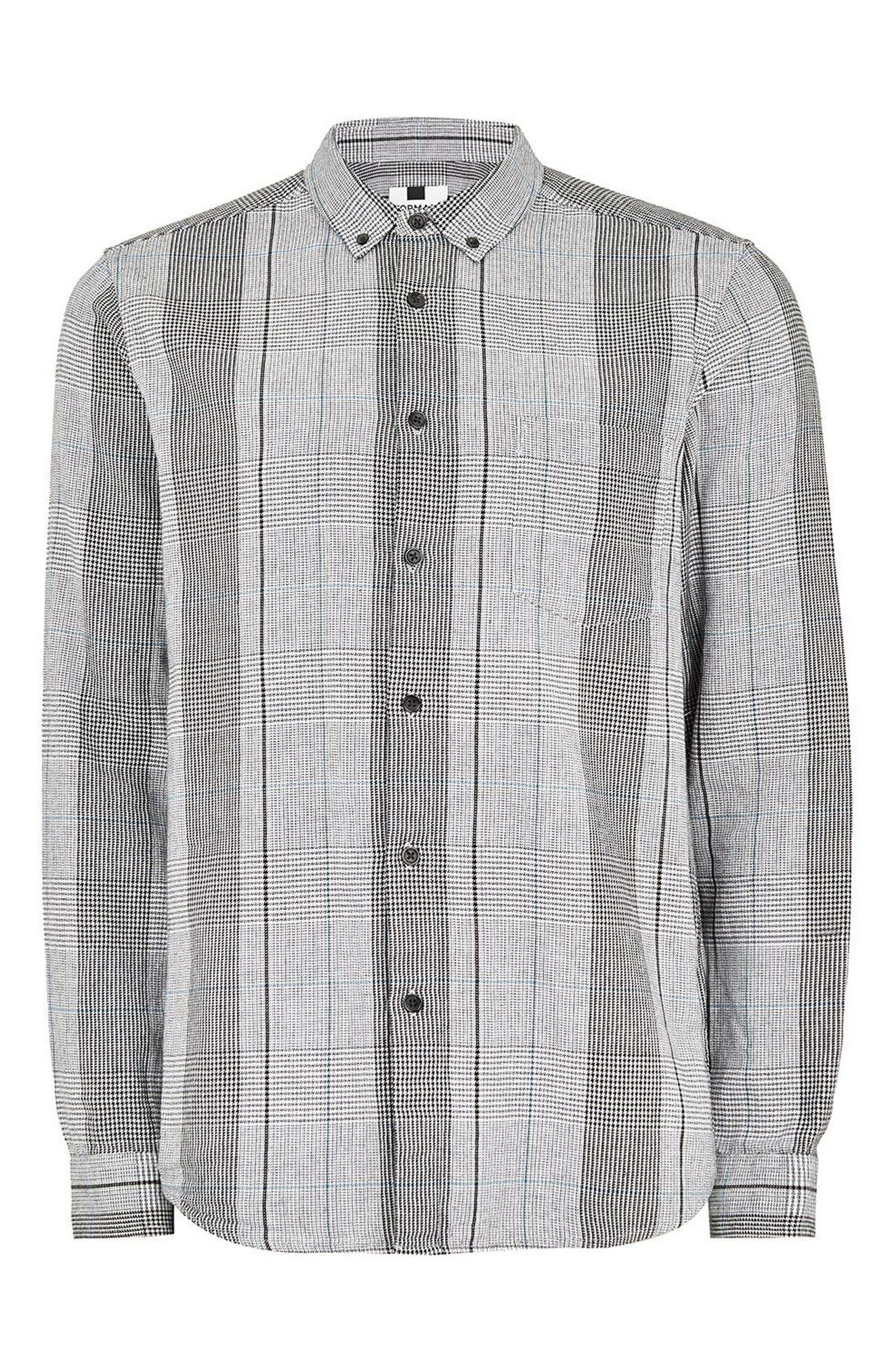 Long Sleeve Heritage Check Classic Fit Sport Shirt,                             Alternate thumbnail 3, color,                             Grey Multi