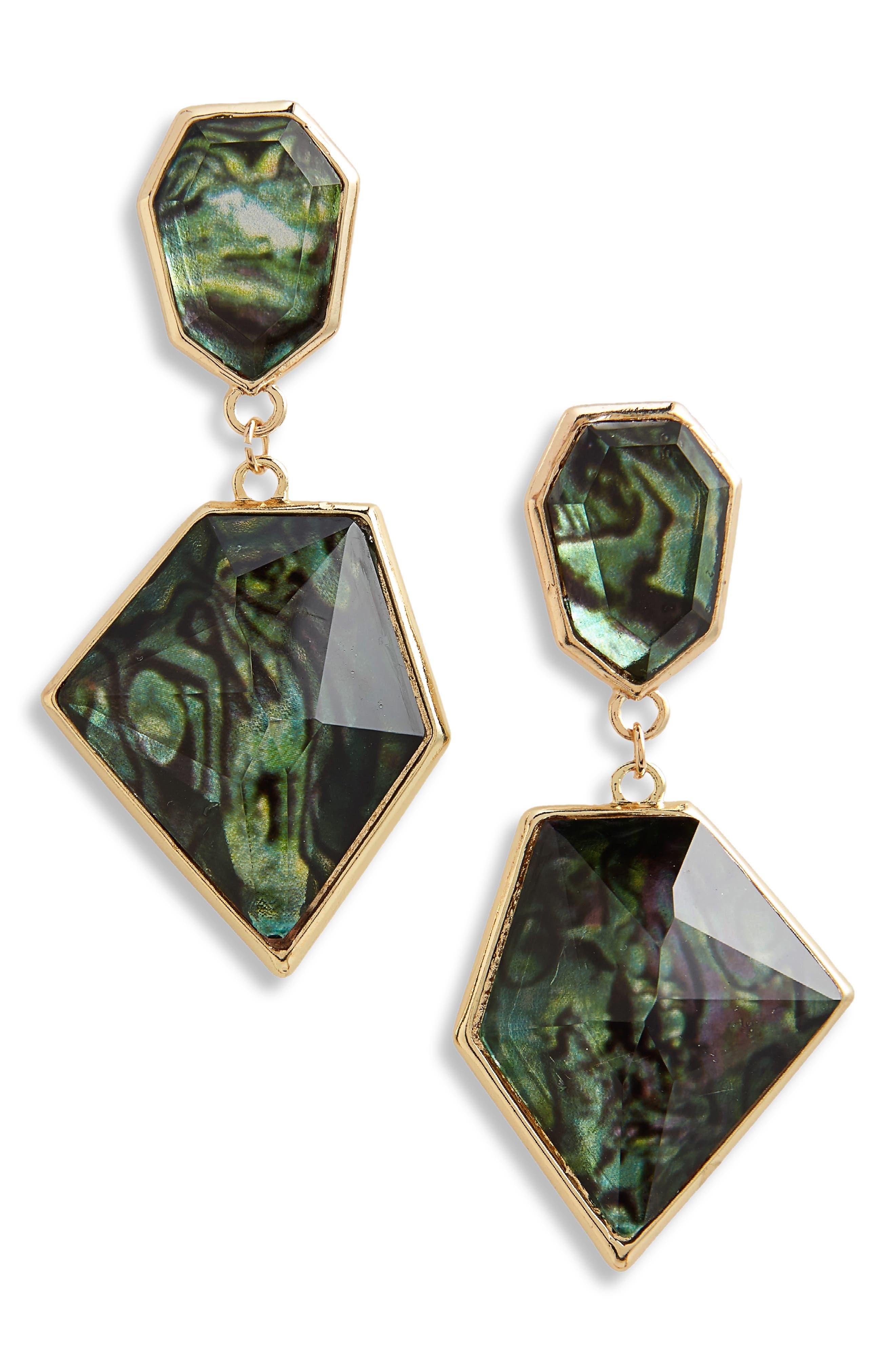 Geo Drop Earrings,                         Main,                         color, Gold/ Multi