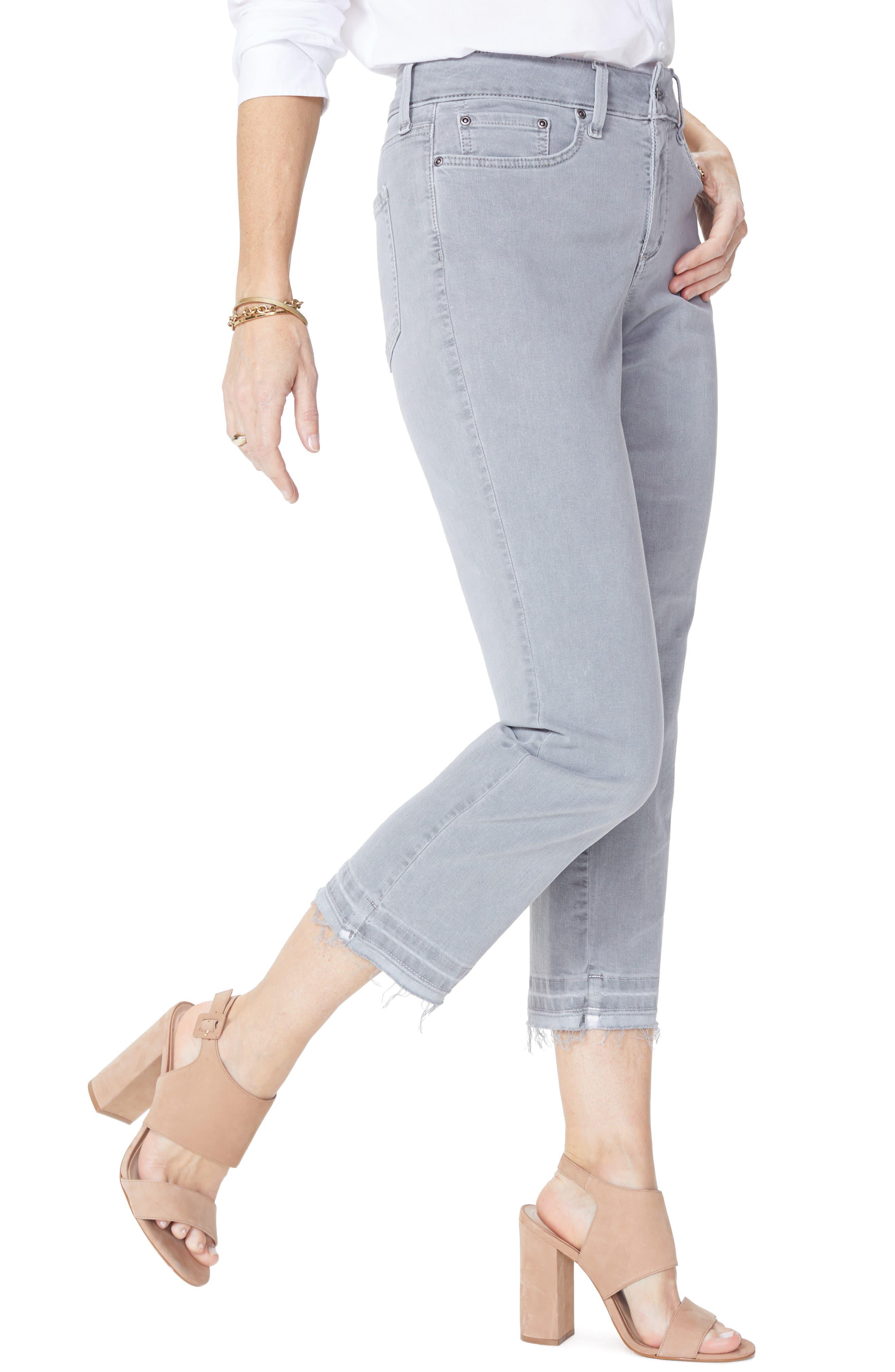 Release Hem Capri Skinny Jeans,                             Alternate thumbnail 3, color,                             Mineral Pigment