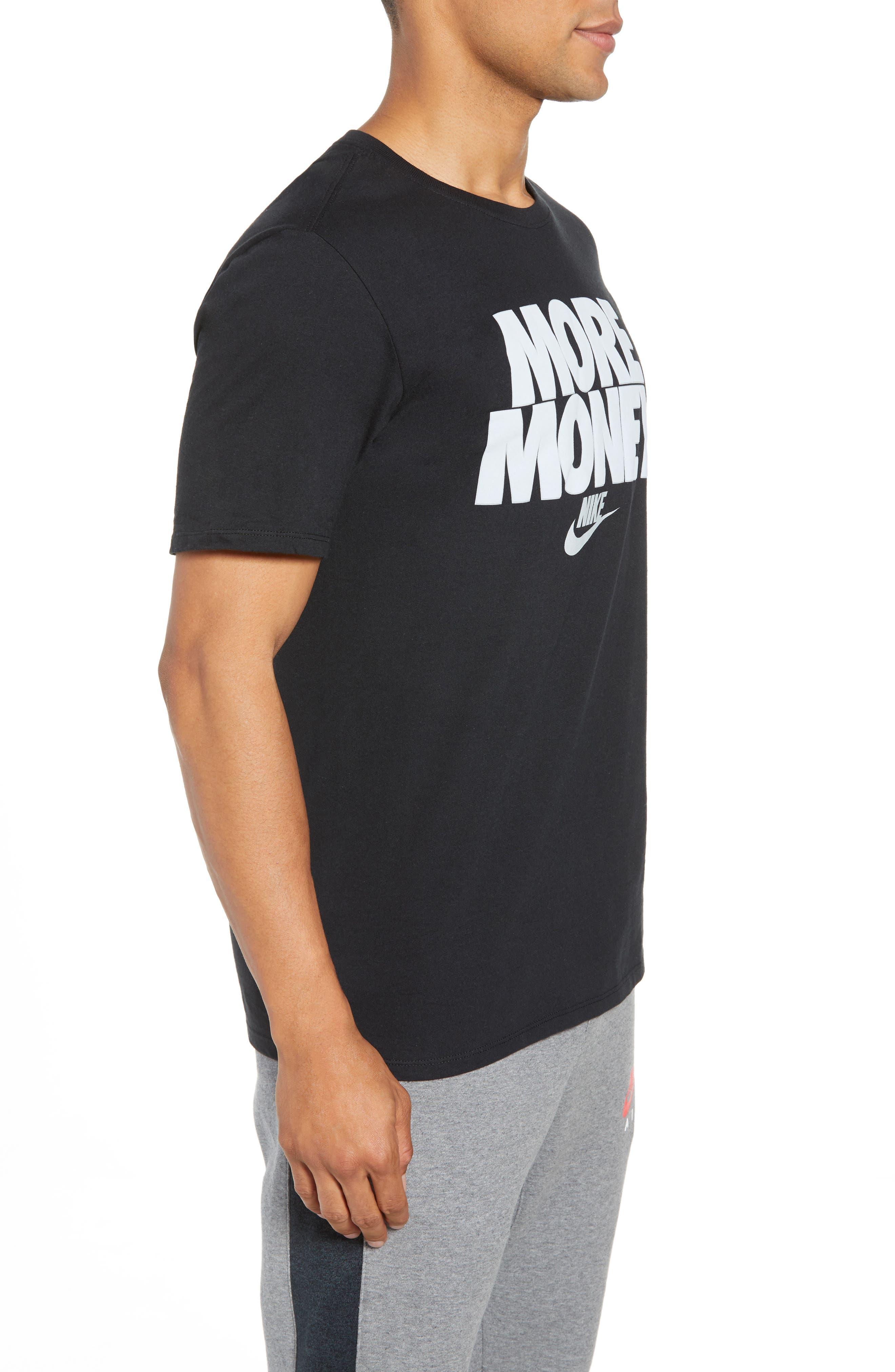 Sportswear More Money T-Shirt,                             Alternate thumbnail 3, color,                             Black/ Metallic Silver
