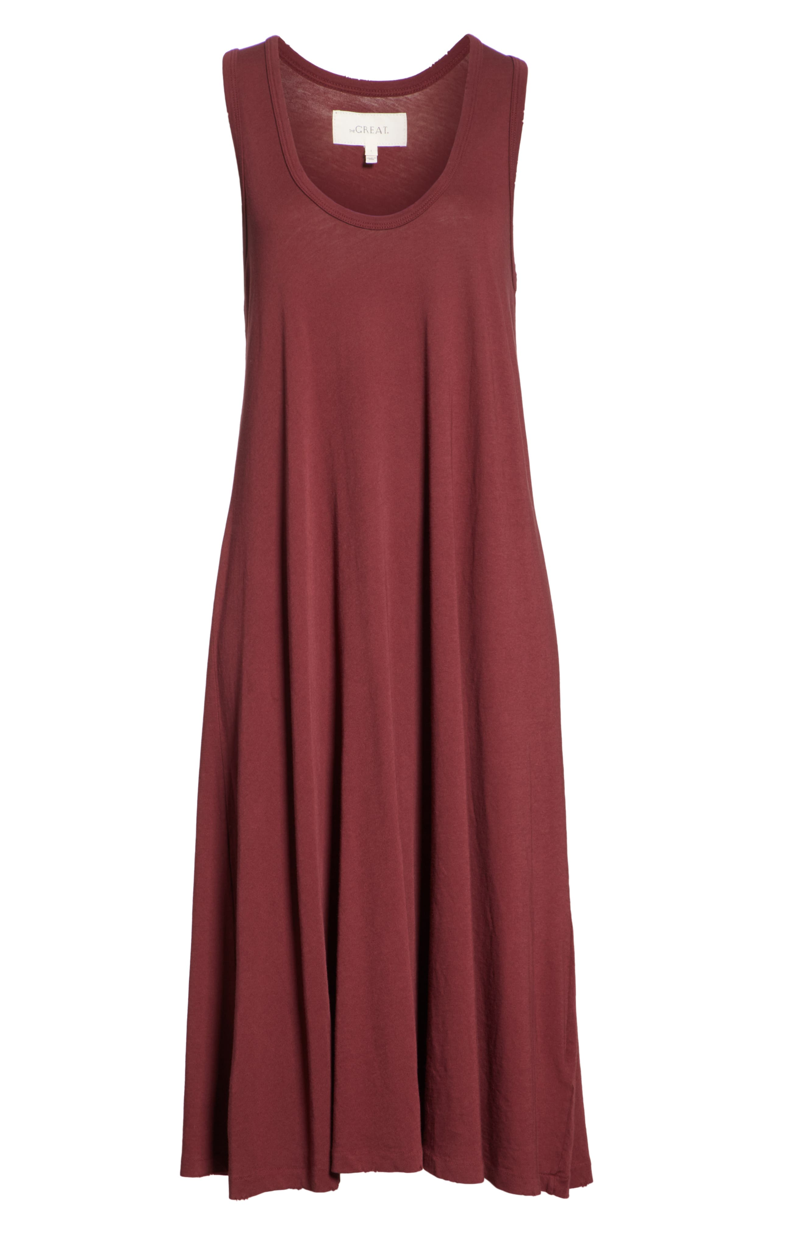 The Swing Tank Dress,                             Alternate thumbnail 6, color,                             Maroon