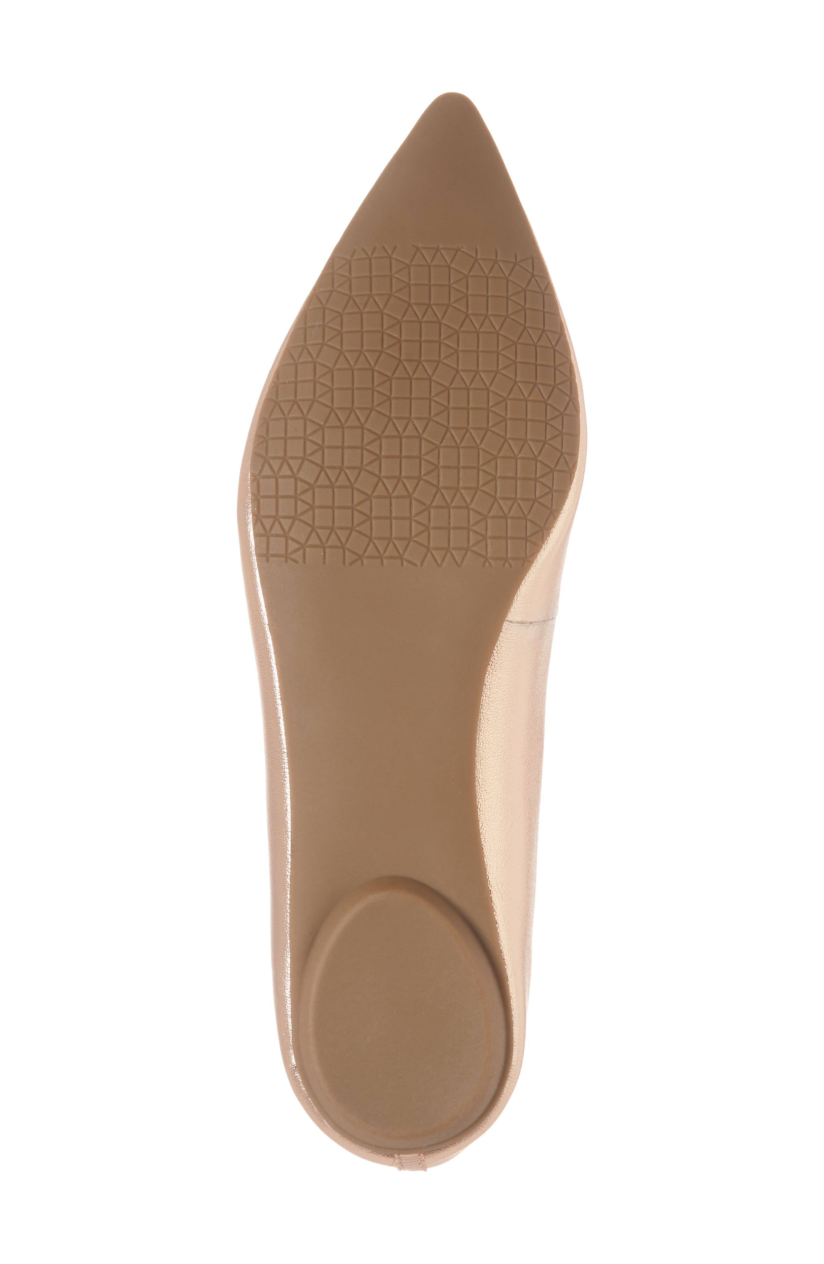 Sasha Flat,                             Alternate thumbnail 4, color,                             Rose Gold Faux Leather