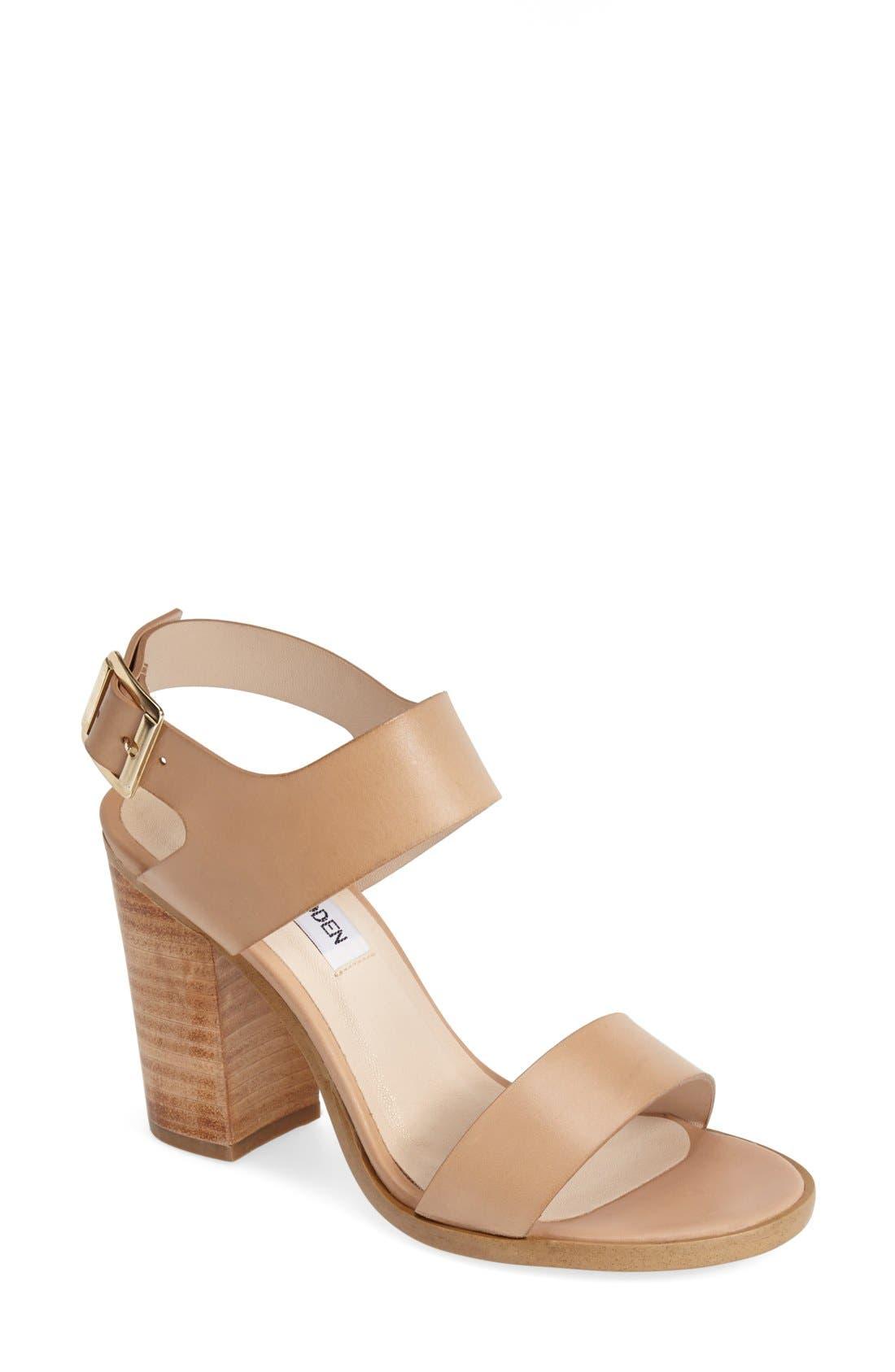 Alternate Image 1 Selected - Steve Madden 'Blaair' Leather Slingback Sandal (Women)