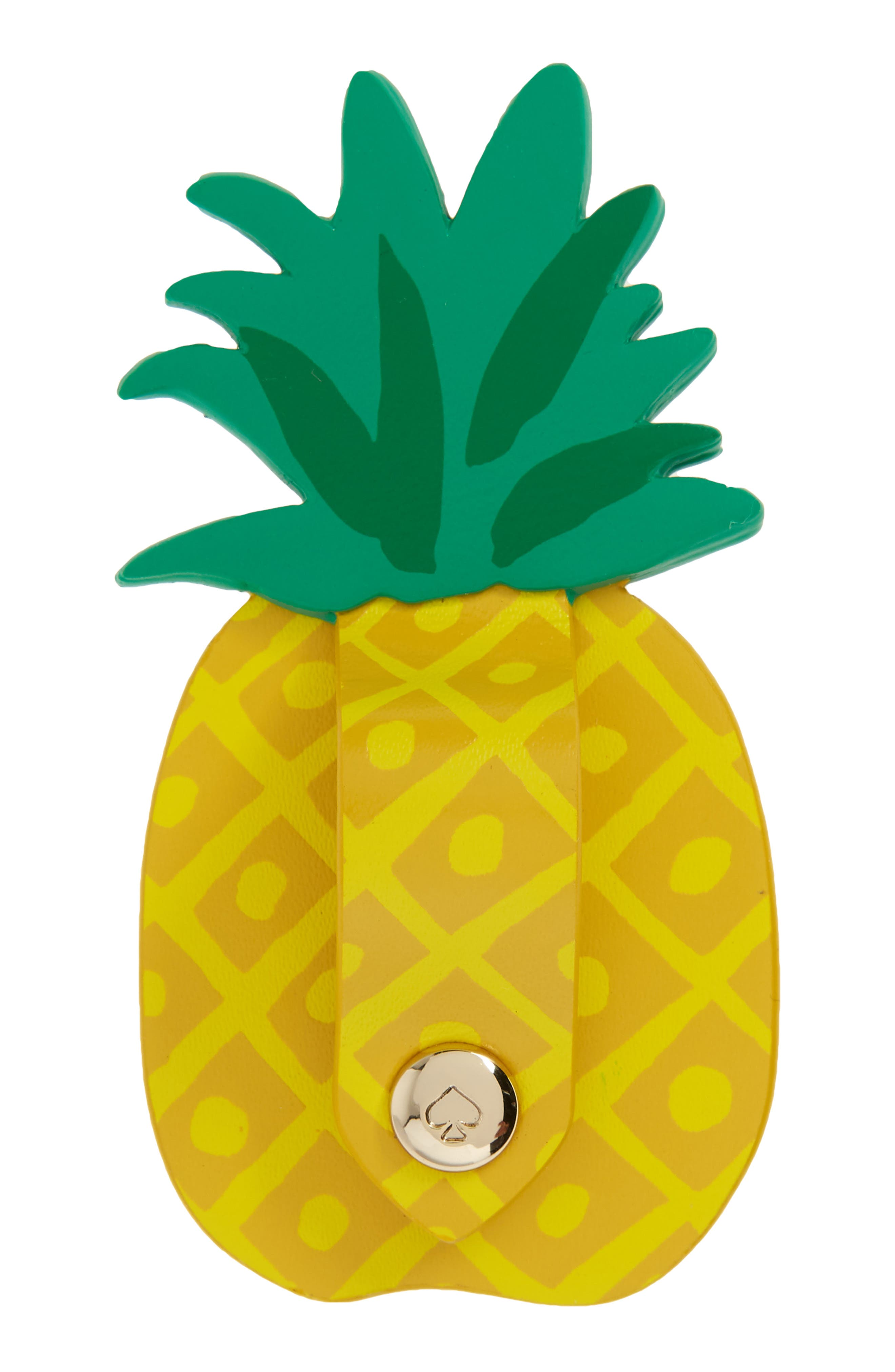 pineapple cord keeper phone sticker,                             Alternate thumbnail 2, color,                             Yellow