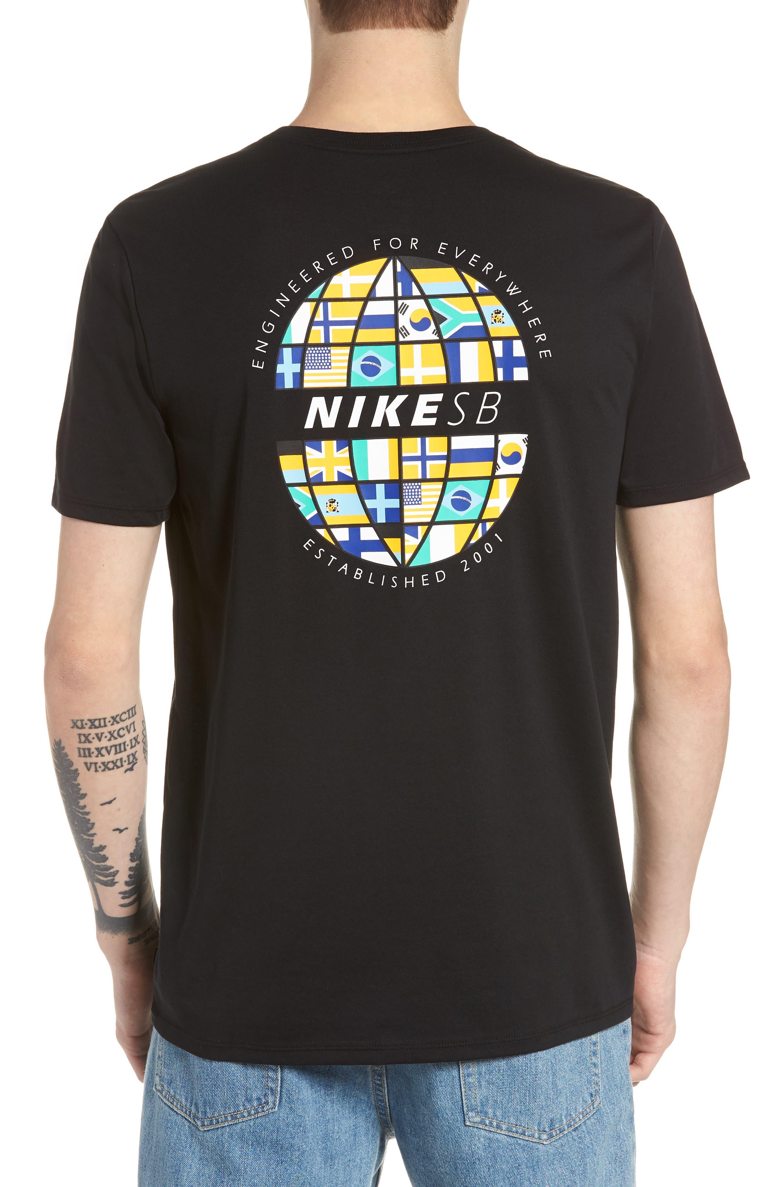 SB Dry DFC Global Graphic T-Shirt,                             Alternate thumbnail 2, color,                             Black/ White