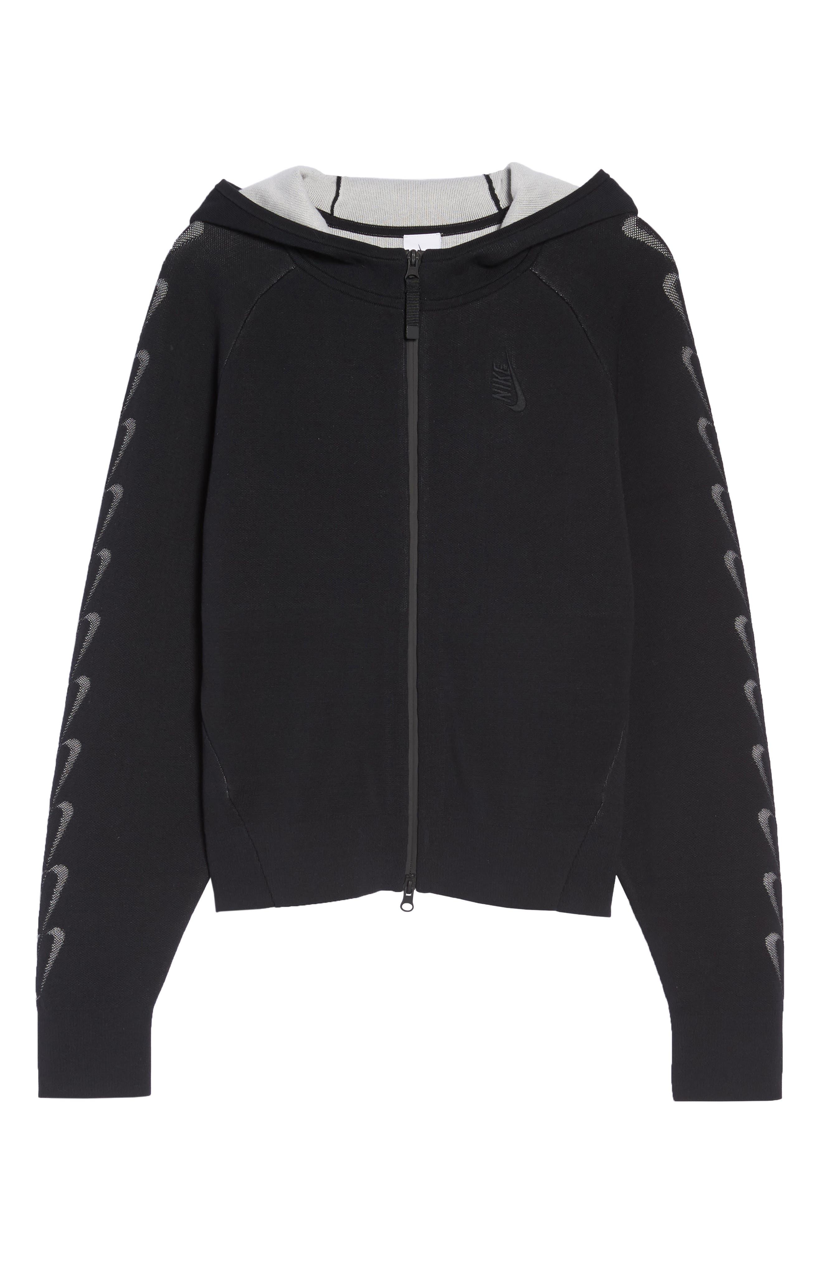 NRG Women's Knit Jacket,                             Alternate thumbnail 6, color,                             Black/ Vast Grey
