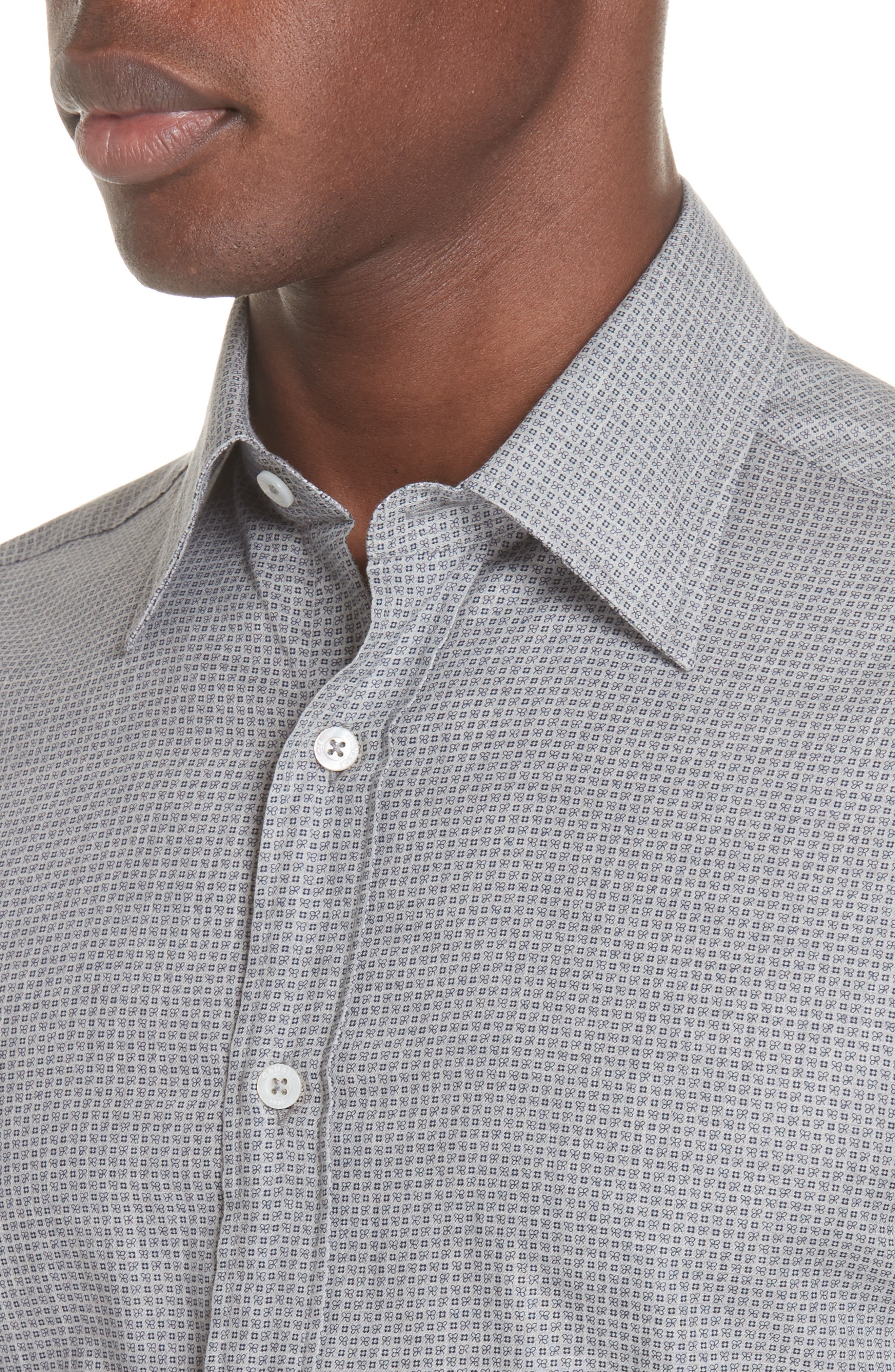 Classic Fit Geometric Dress Shirt,                             Alternate thumbnail 2, color,                             Grey