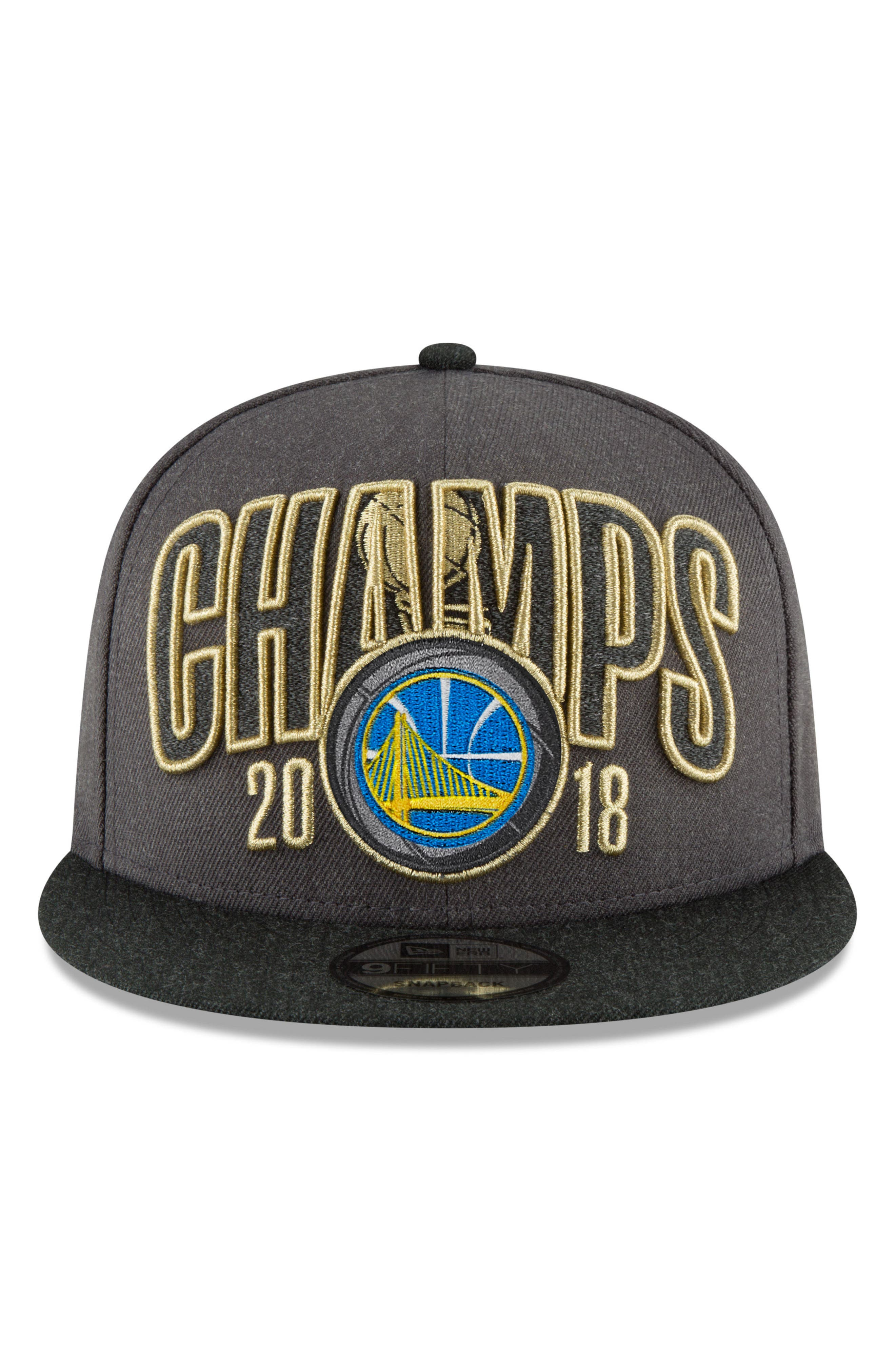 2018 NBA Champions - Golden State Warriors 9Fifty Snapback Cap,                             Alternate thumbnail 5, color,                             Golden State Warriors
