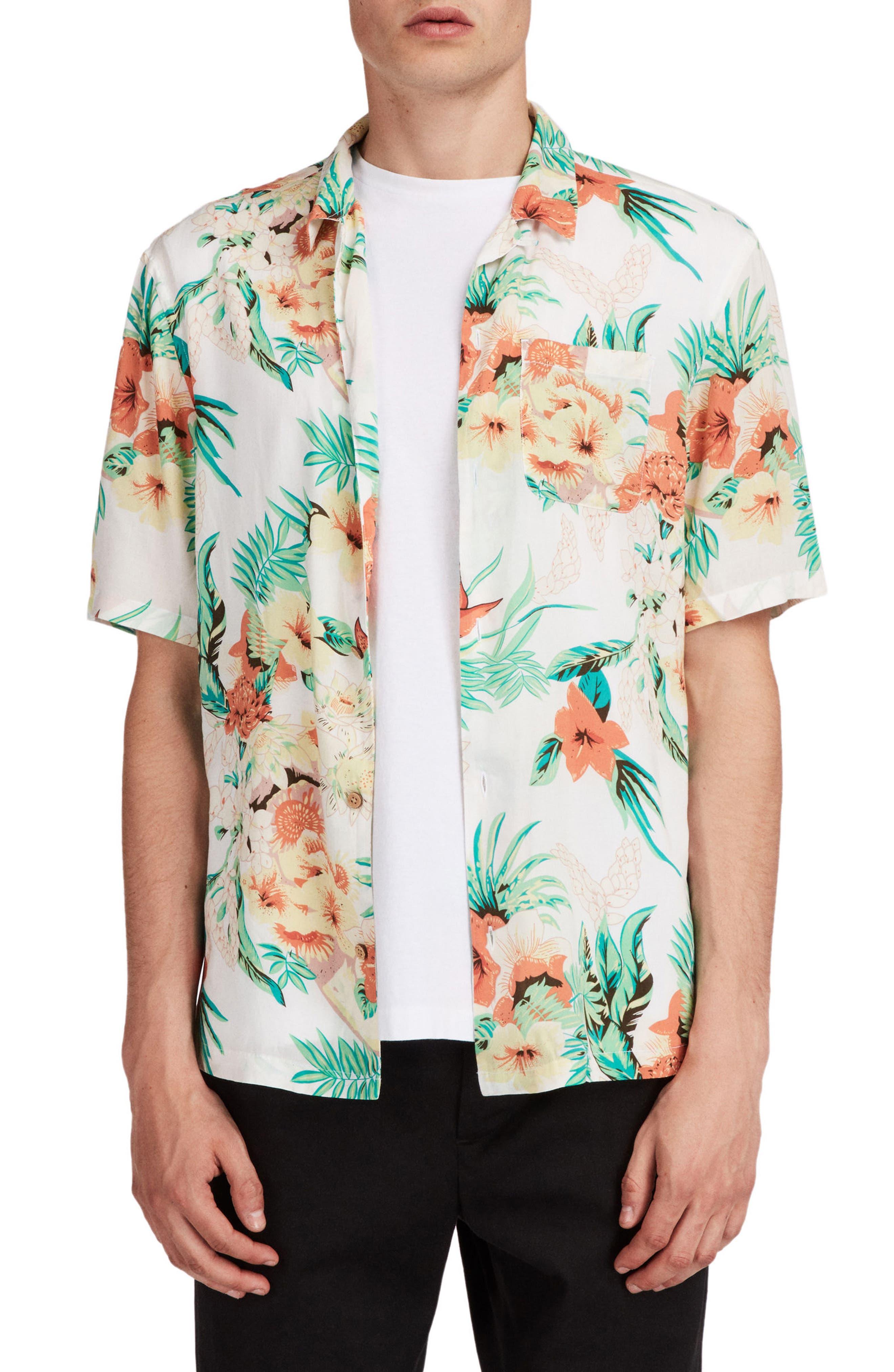 Calypso Regular Fit Sport Shirt,                             Main thumbnail 1, color,                             Ecru