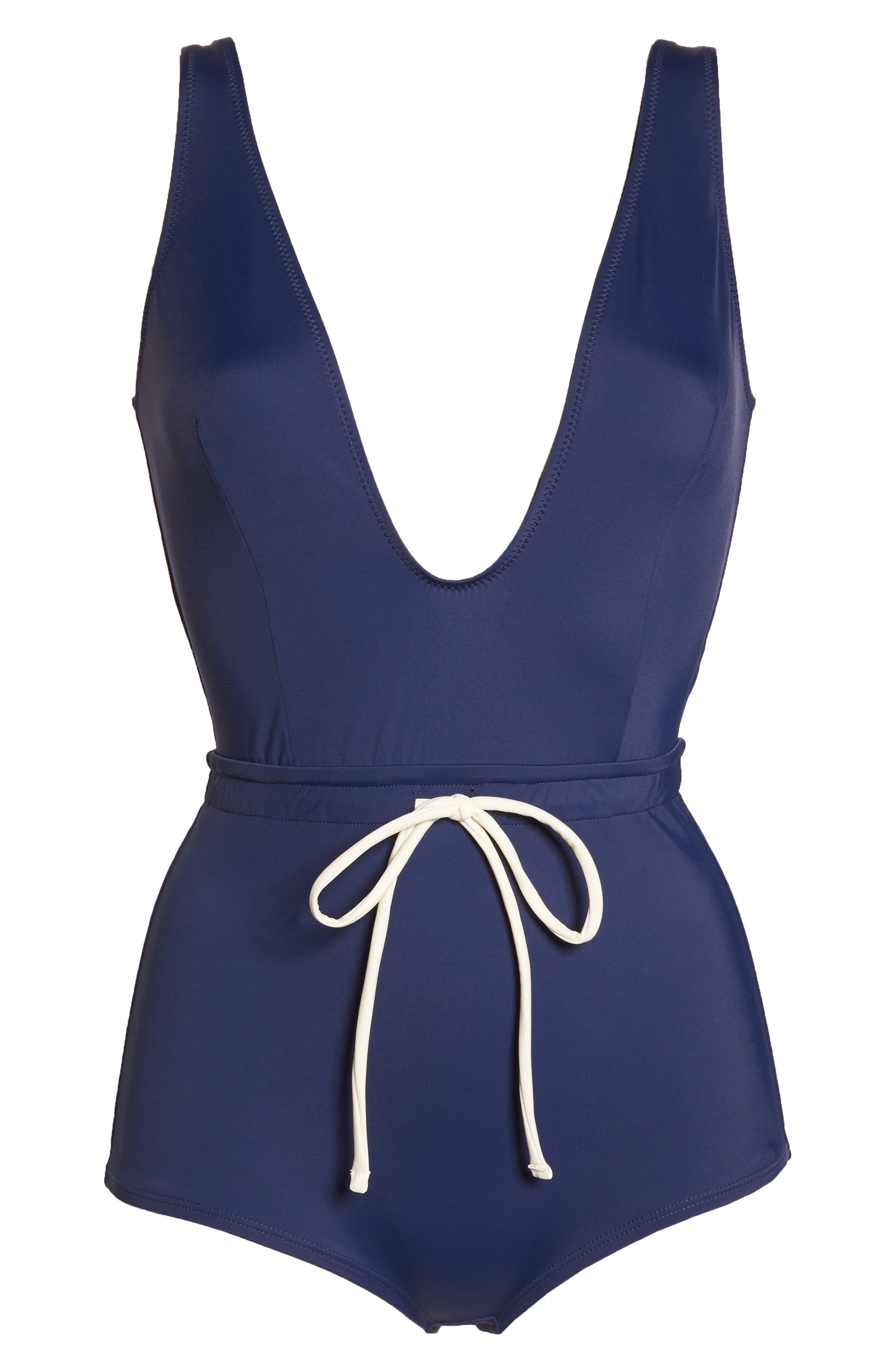 The Edie One-Piece Swimsuit,                             Alternate thumbnail 6, color,                             Navy