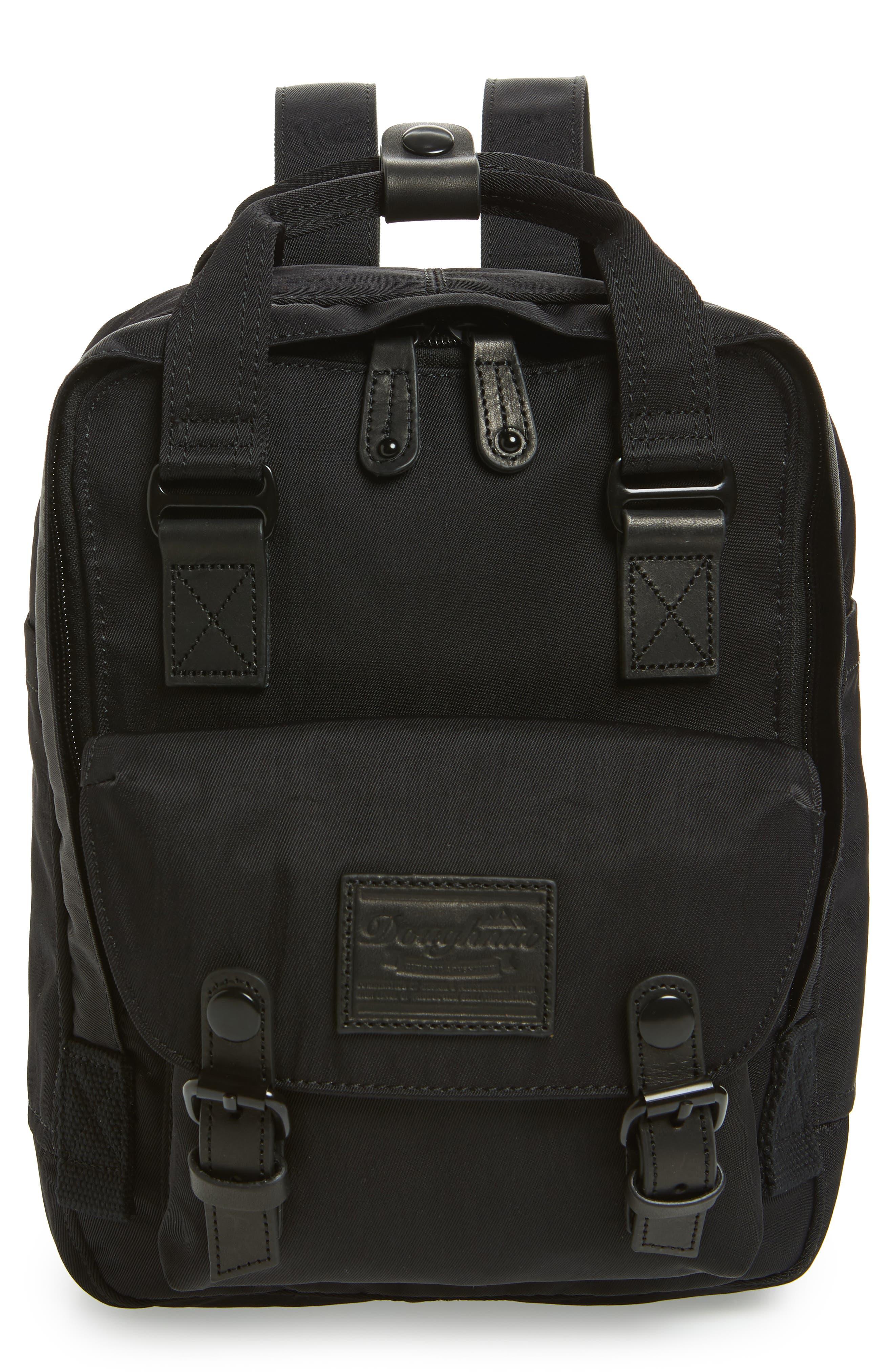 Mini Macaroon Black Series Water Resistant Backpack,                         Main,                         color, Black