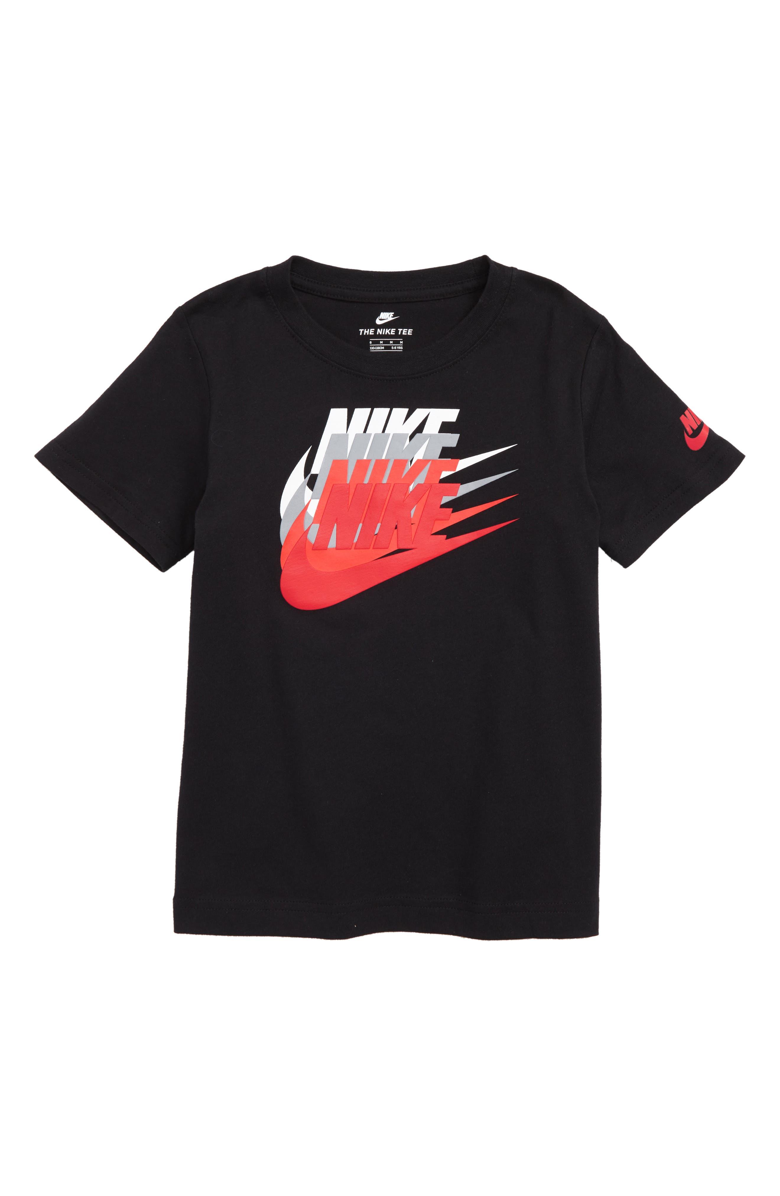Sunset Futura Graphic T-Shirt,                             Main thumbnail 1, color,                             Black