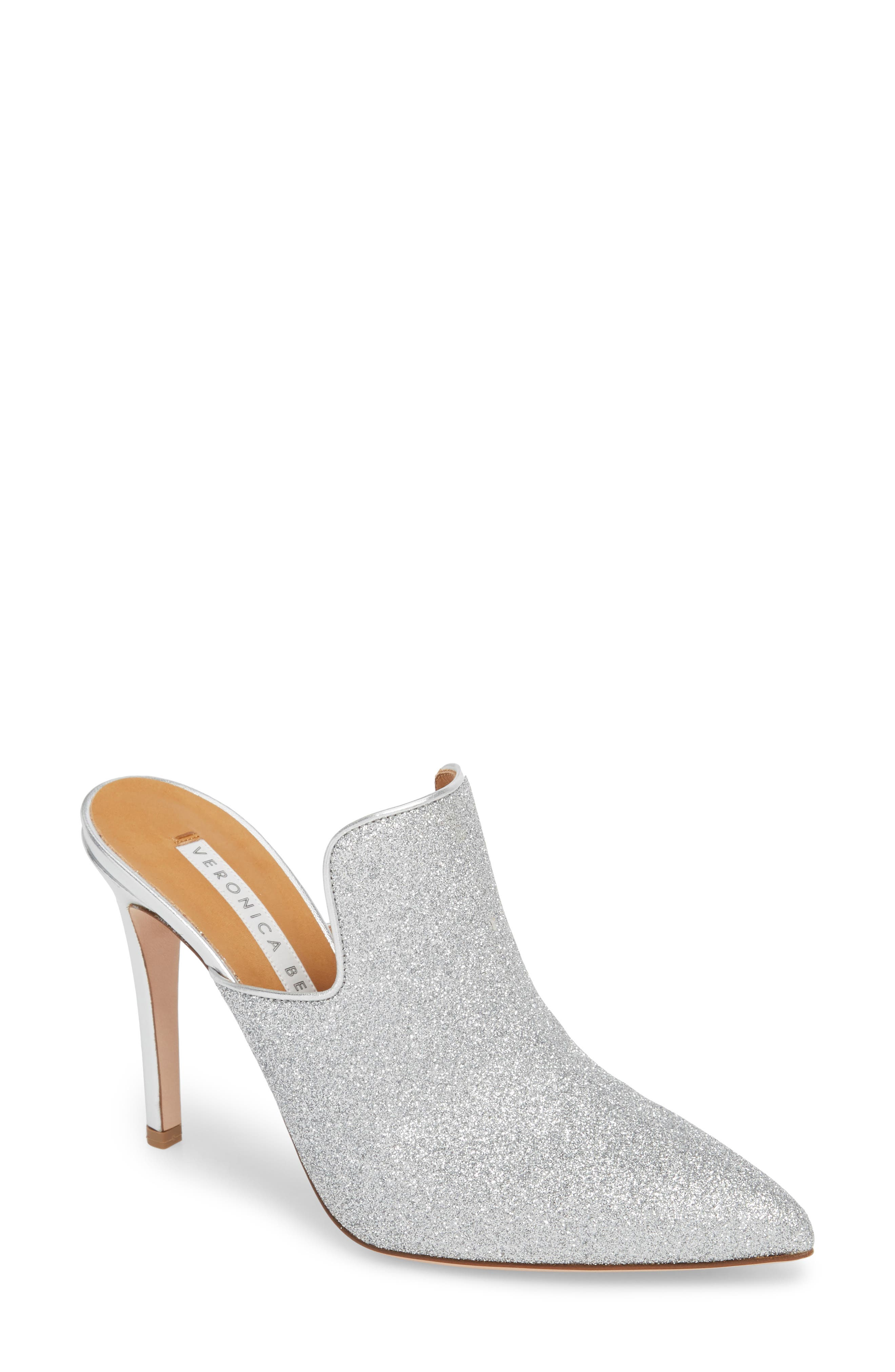Penn Pointy Toe Mule,                         Main,                         color, Silver