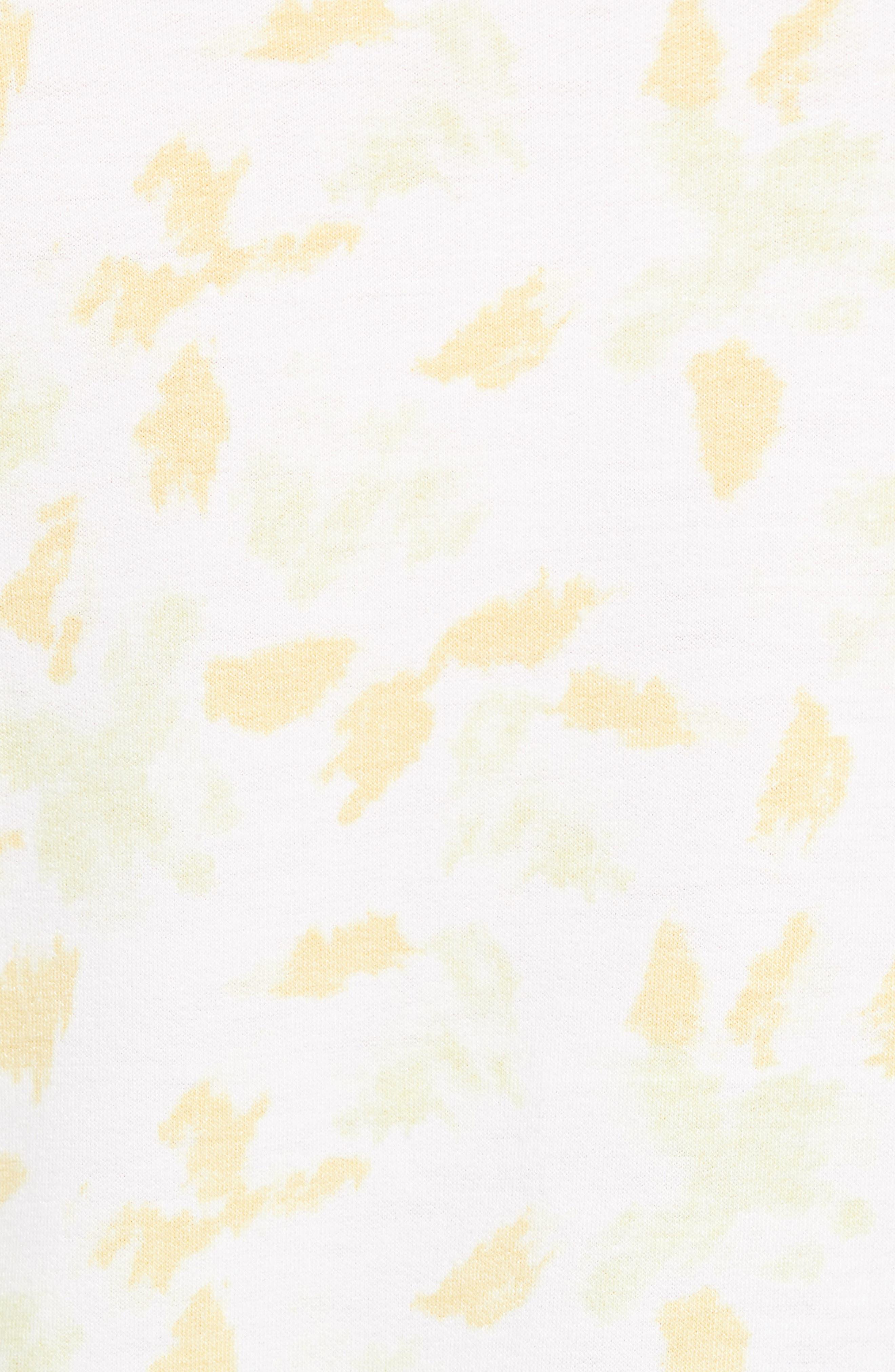 Off Duty Raglan Sleeve Sweatshirt,                             Alternate thumbnail 5, color,                             Ivory- Yellow Fleurs De Laine