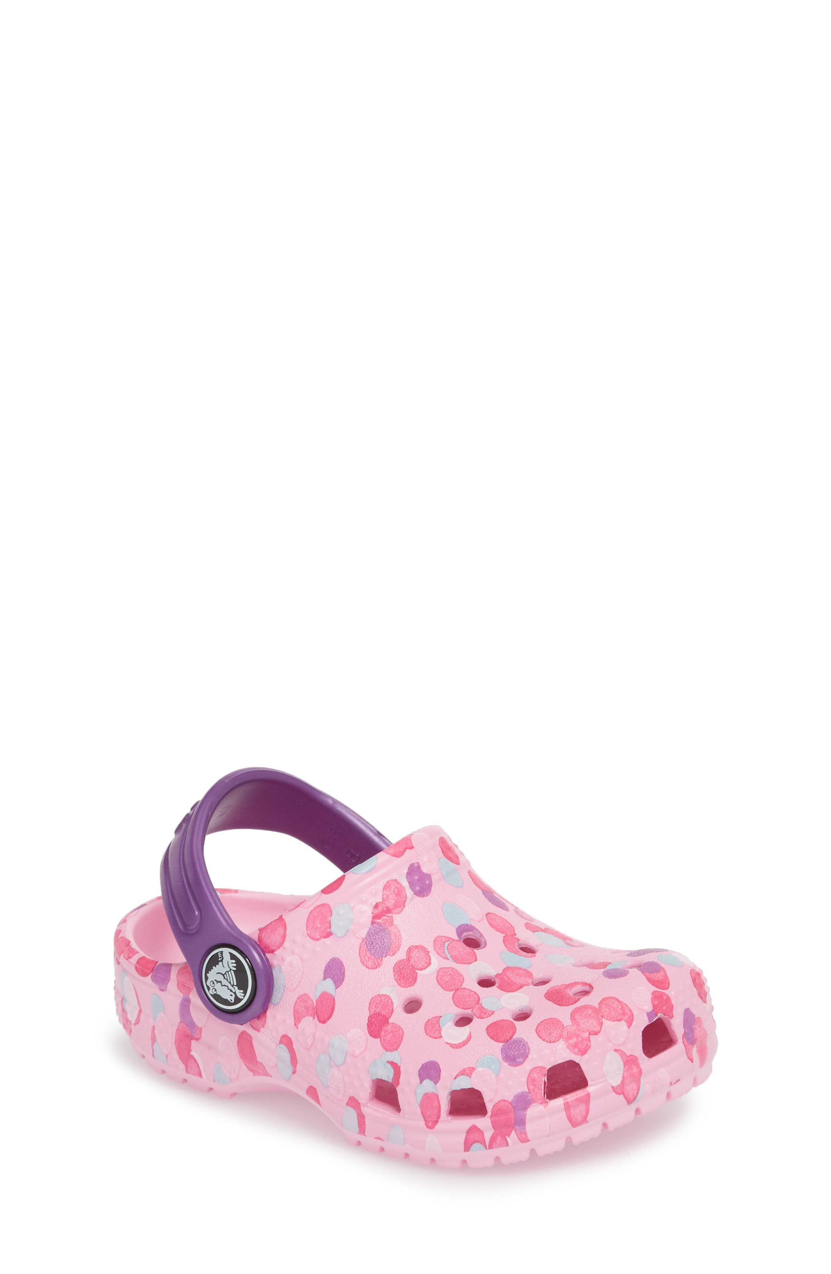 Classic Graphic Clog,                             Main thumbnail 1, color,                             Carnation