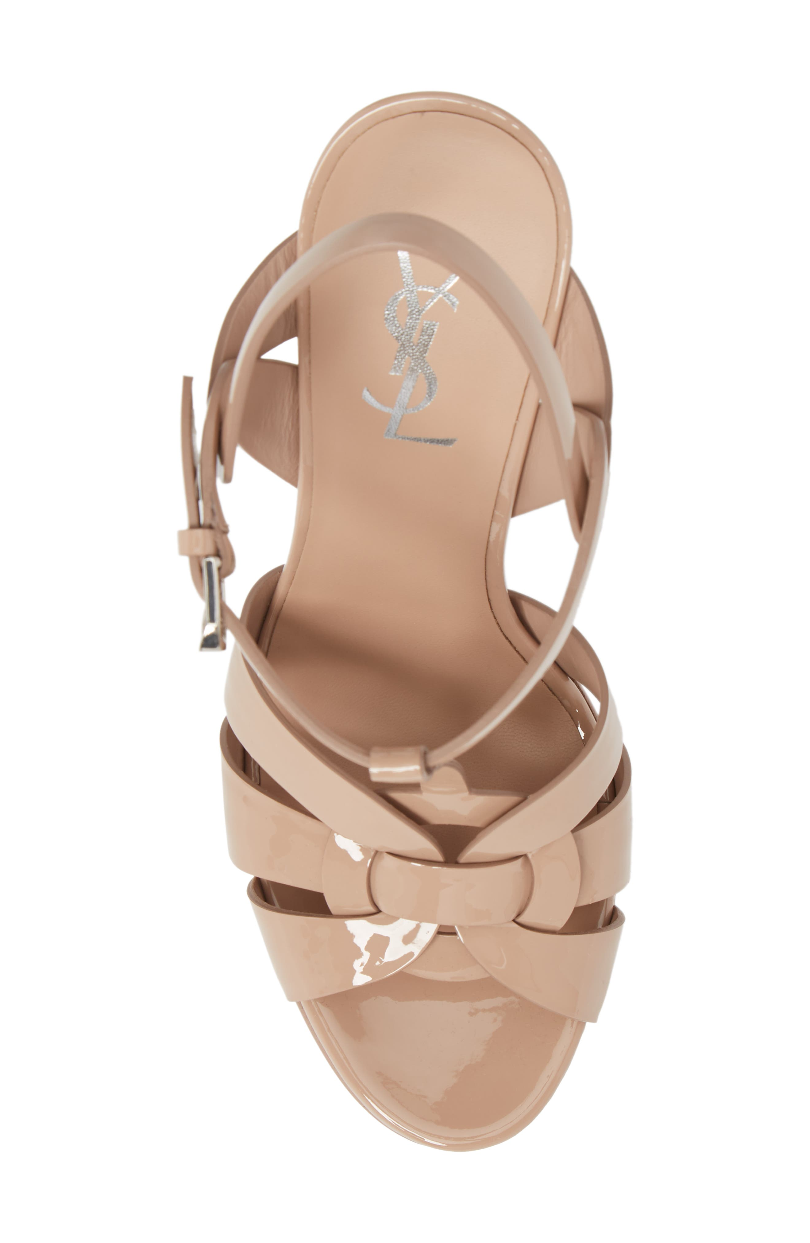 Tribute T-Strap Platform Sandal,                             Alternate thumbnail 4, color,                             Nude Rose