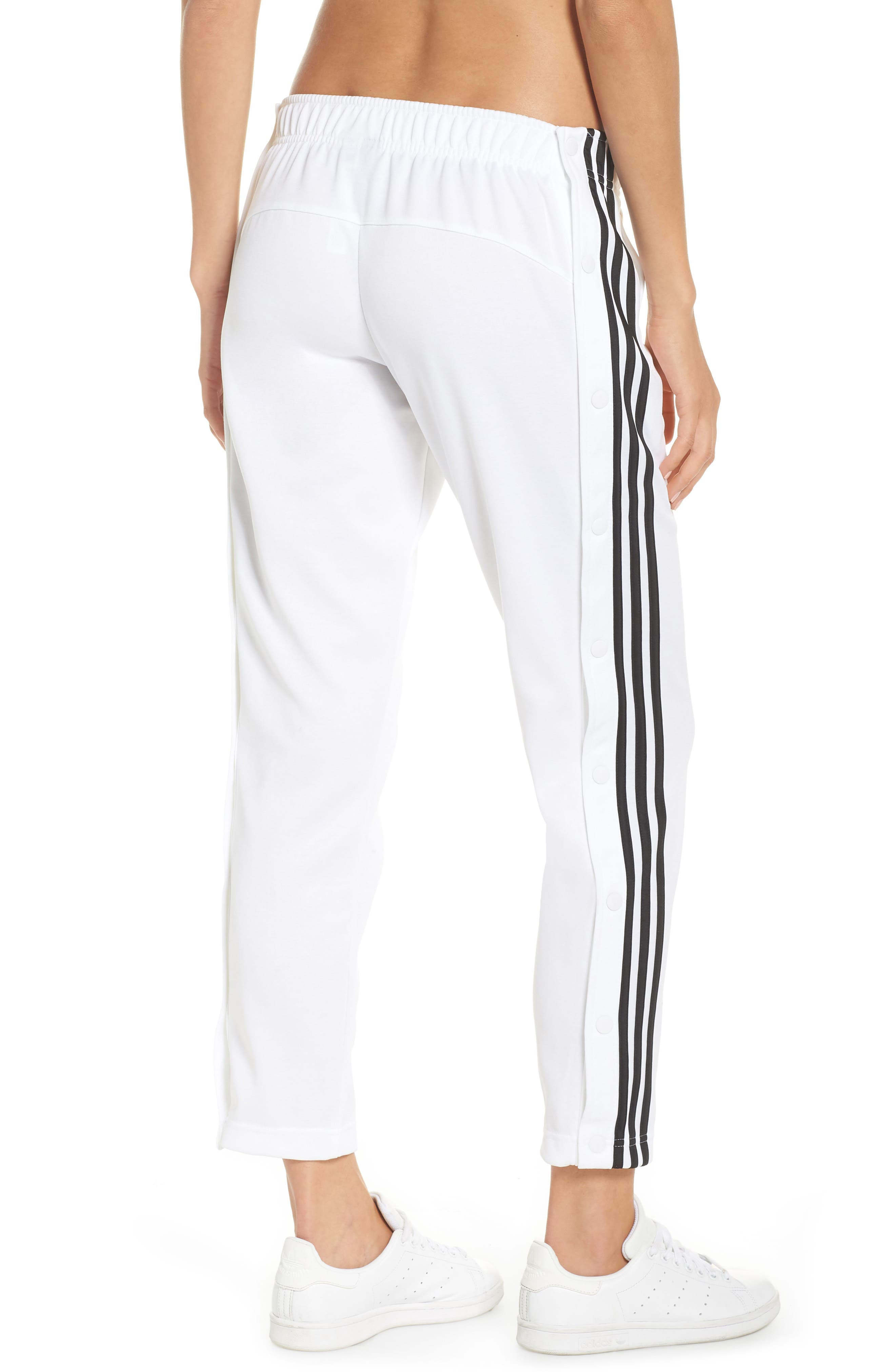 Tricot Snap Pants,                             Alternate thumbnail 2, color,                             White/ Black/ Black