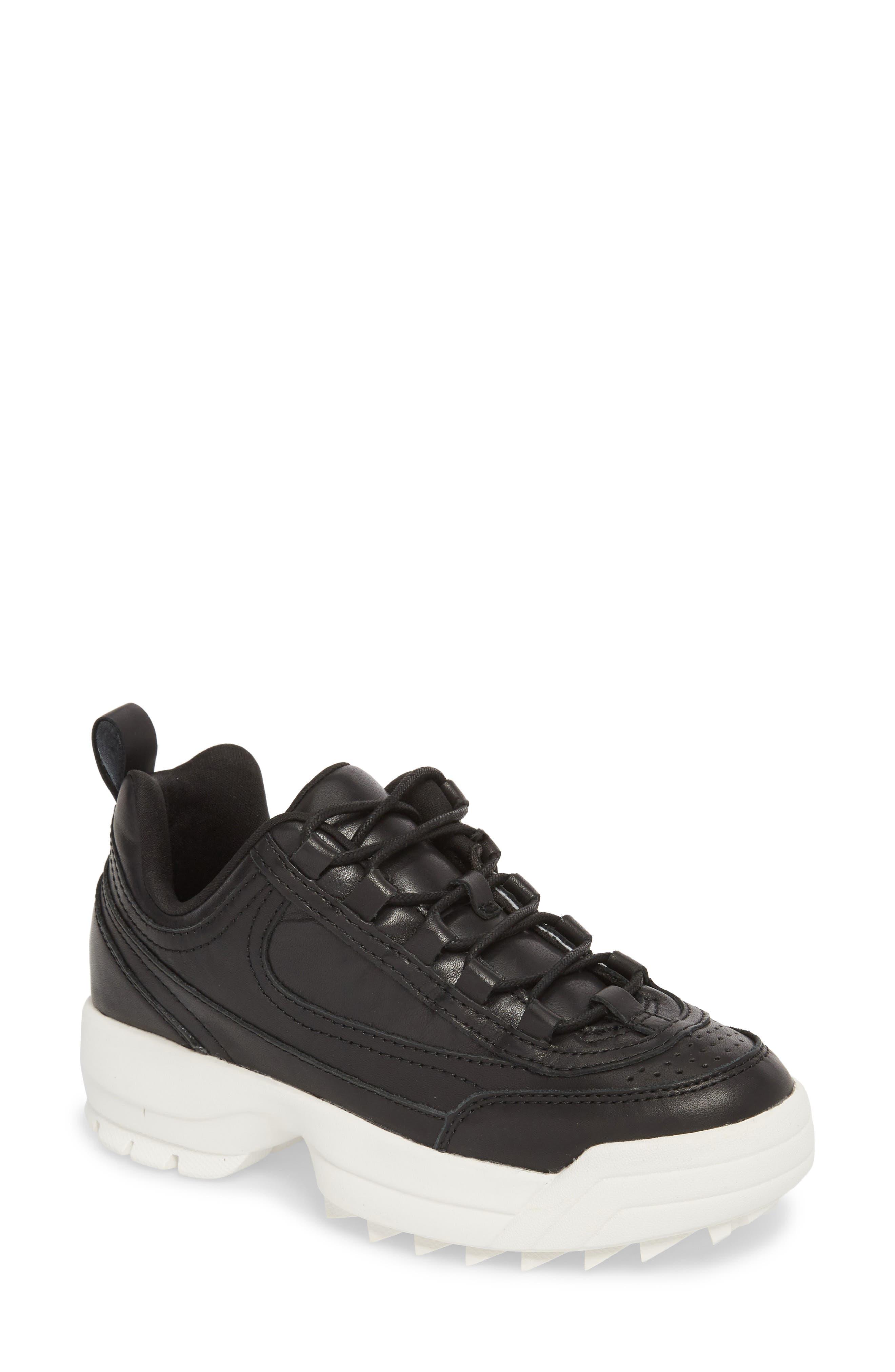 Sidekick Platform Sneaker,                             Main thumbnail 1, color,                             Black Leather