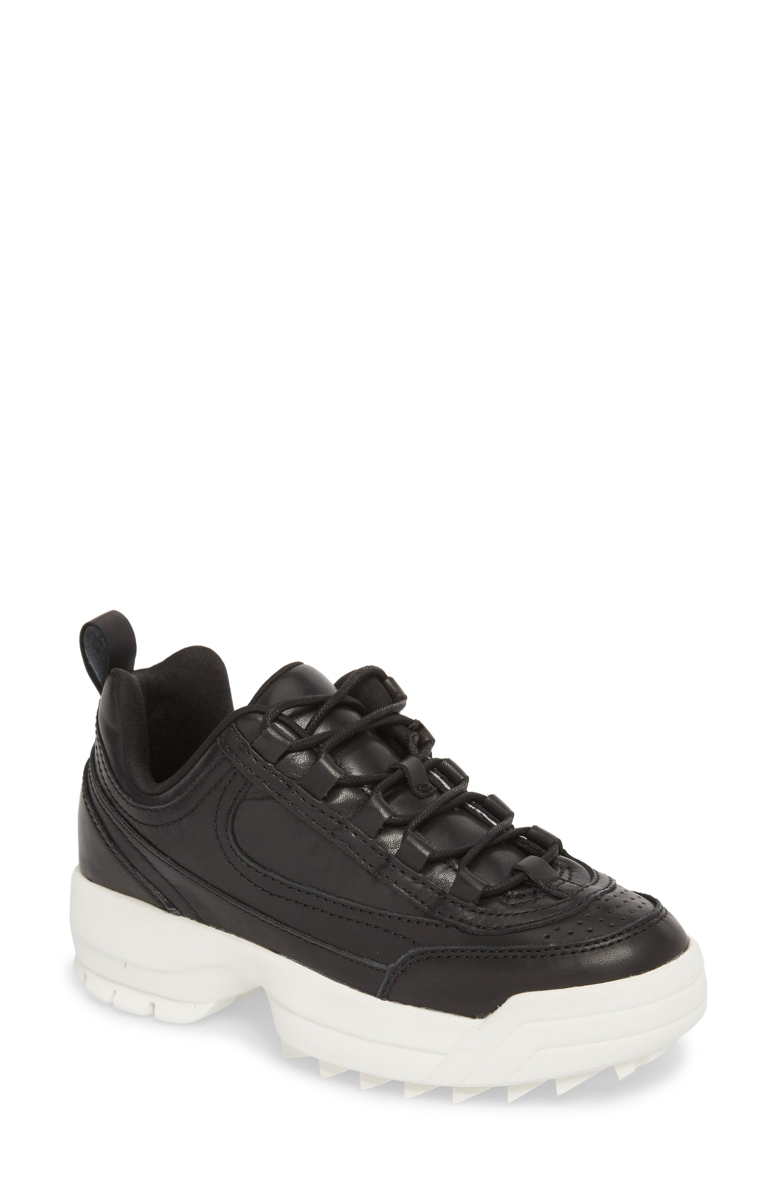 Sidekick Platform Sneaker,                         Main,                         color, Black Leather