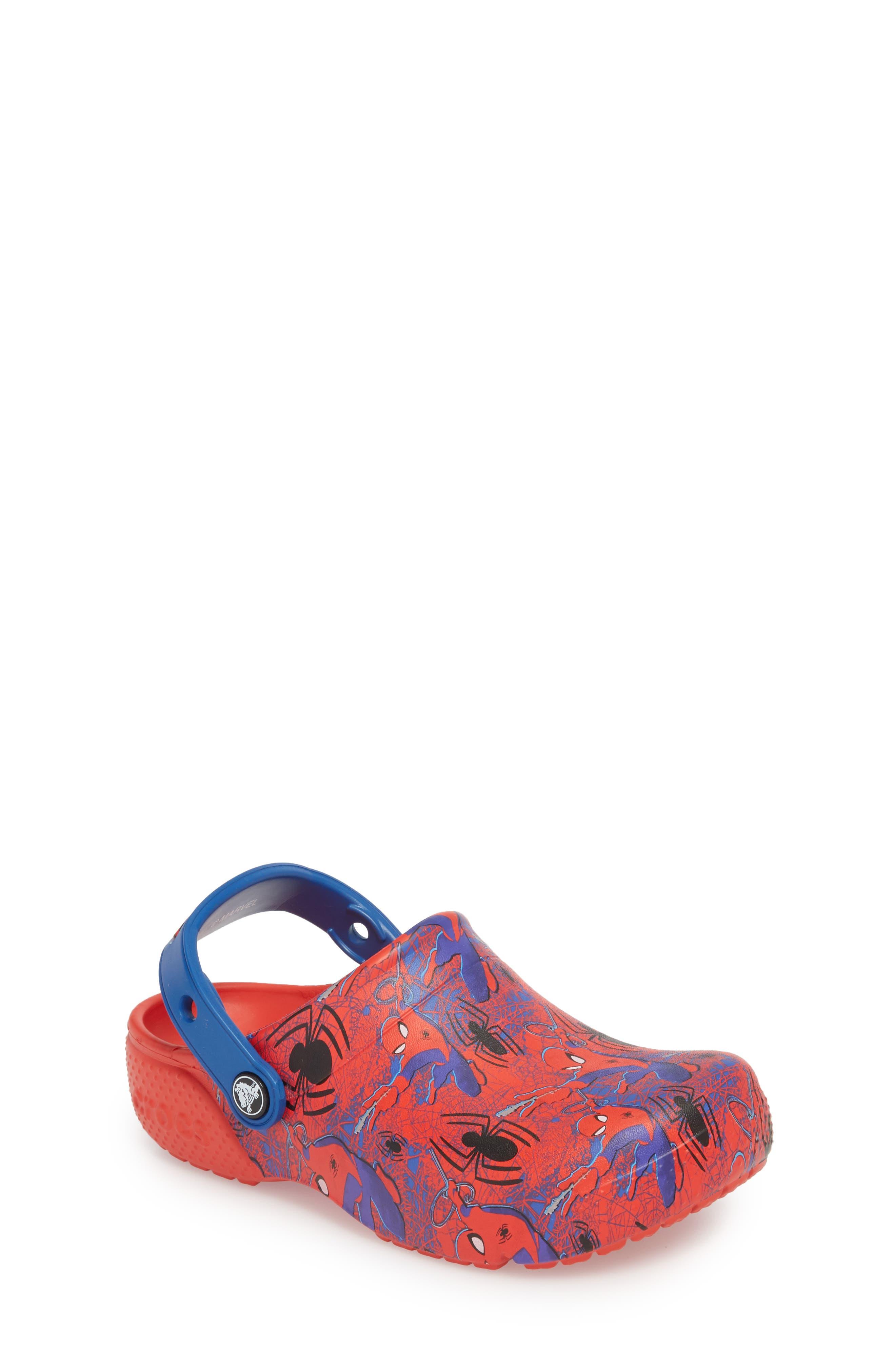 Fun Lab Spiderman Clog,                         Main,                         color, Flame