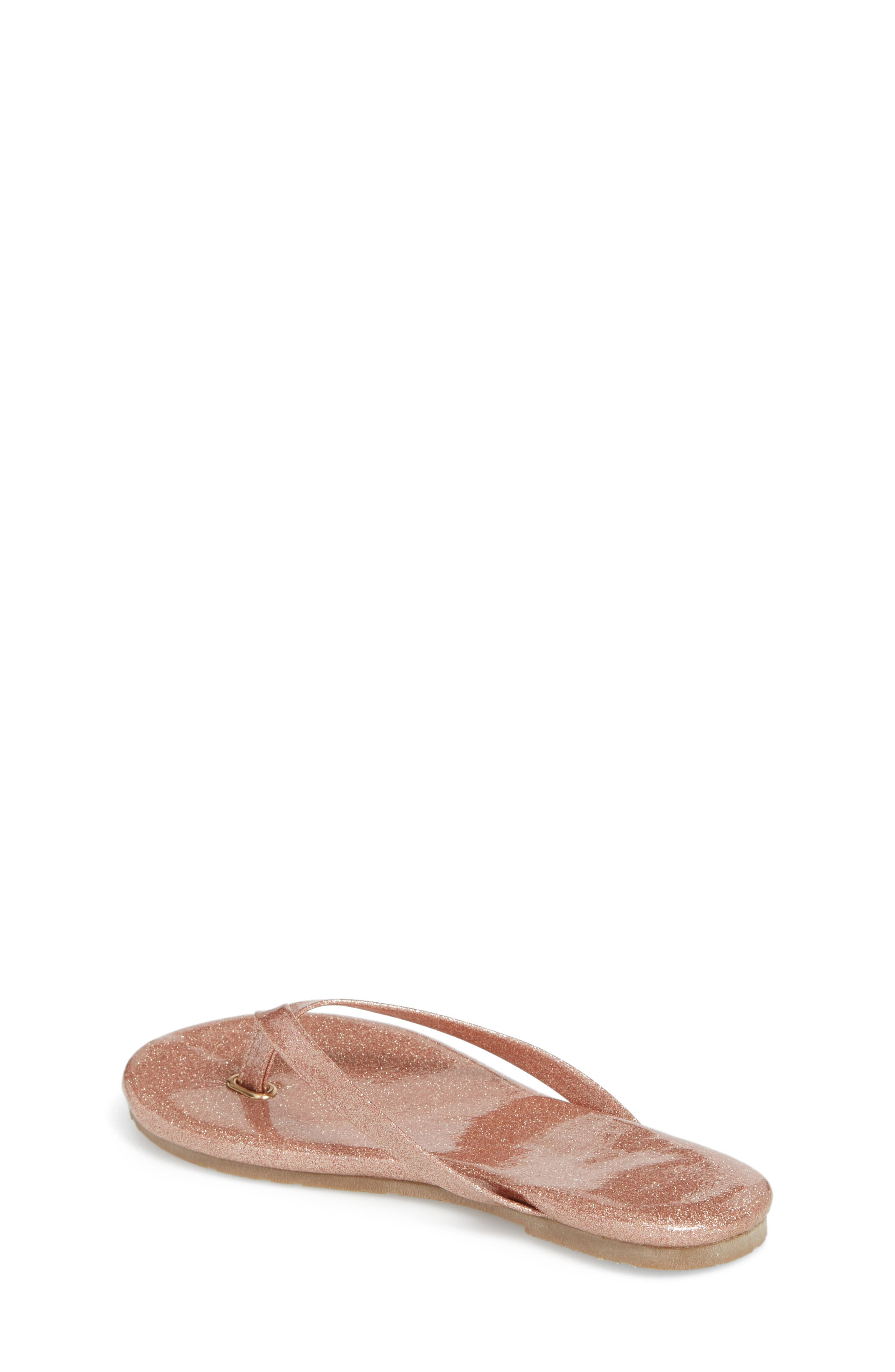 Rivington Flip Flop,                             Alternate thumbnail 2, color,                             Light Pink Patent Glitter
