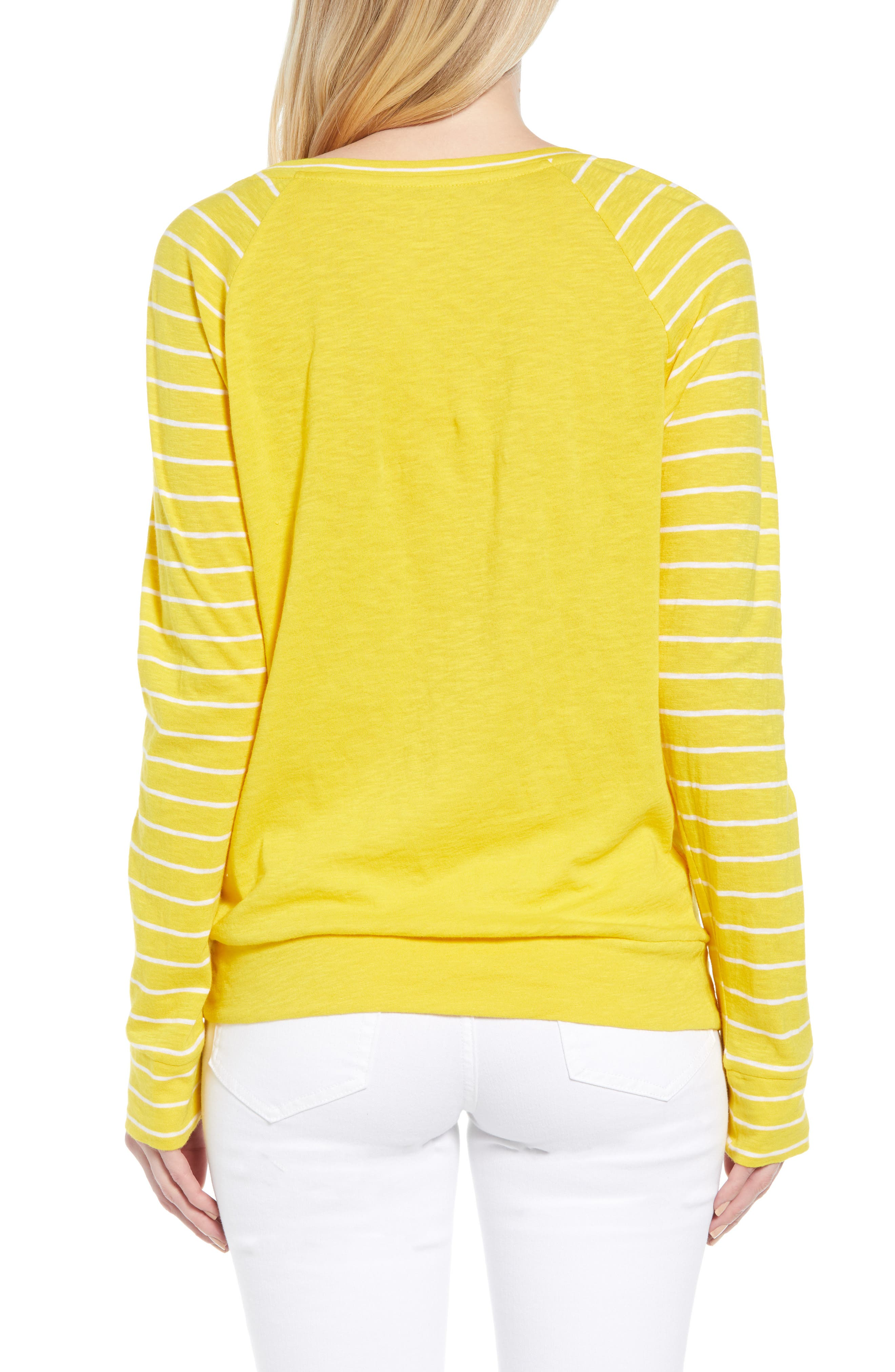 Lightweight Colorblock Cotton Tee,                             Alternate thumbnail 25, color,                             Yellow- White Lukah Combo