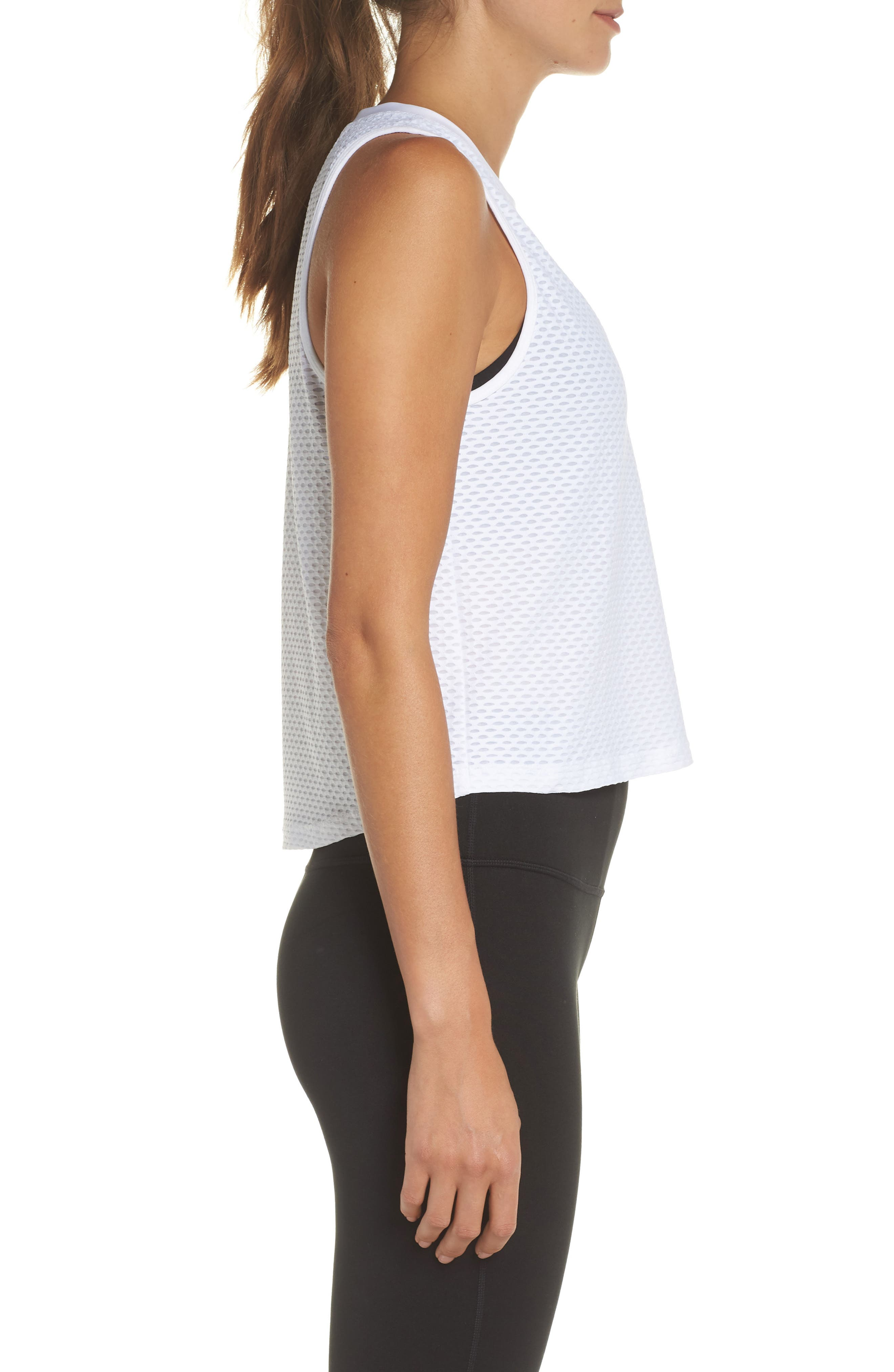 Crop Muscle Tee,                             Alternate thumbnail 7, color,                             White