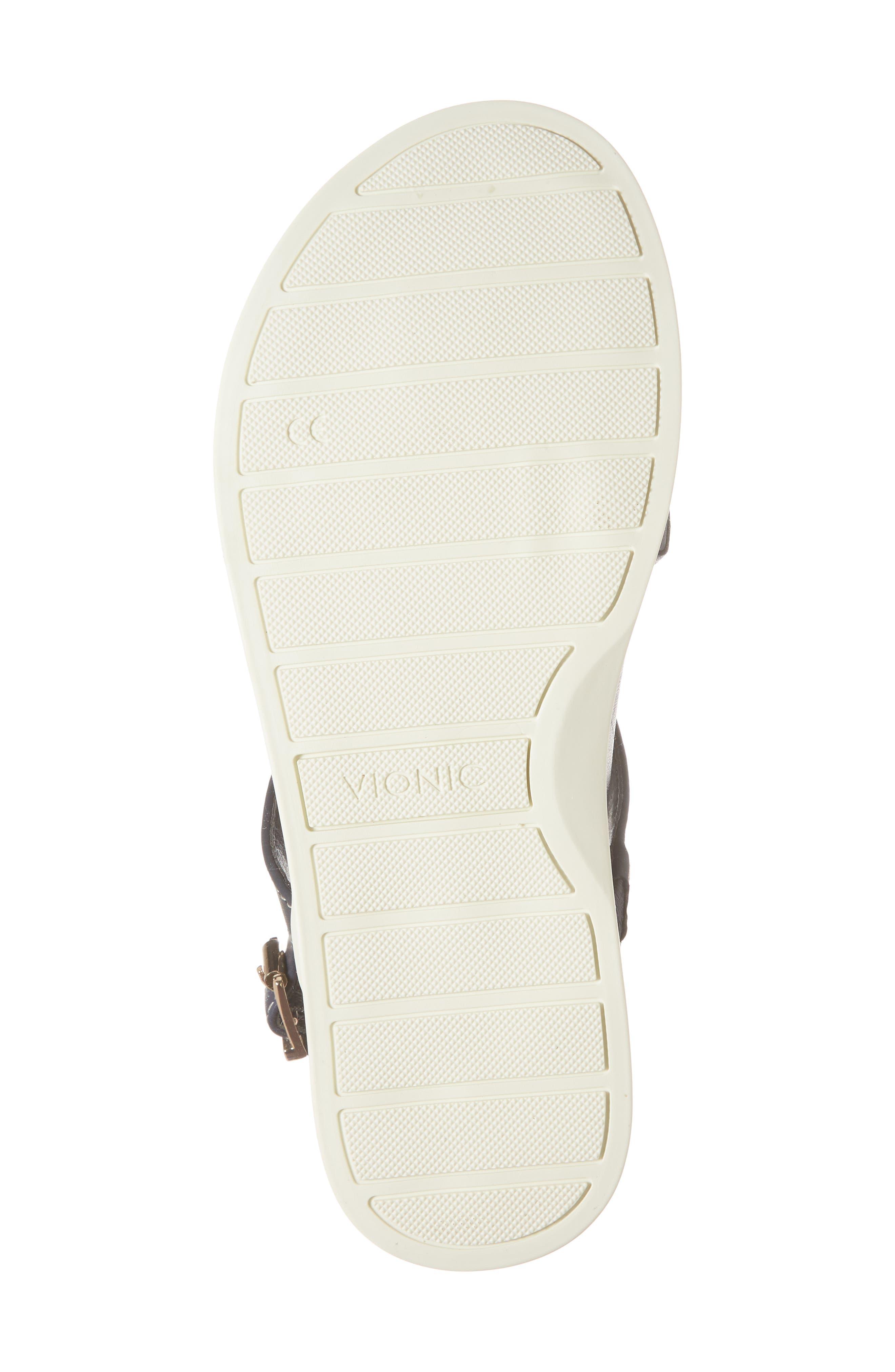 Veranda Orthaheel<sup>®</sup> Sandal,                             Alternate thumbnail 3, color,                             Navy Leather