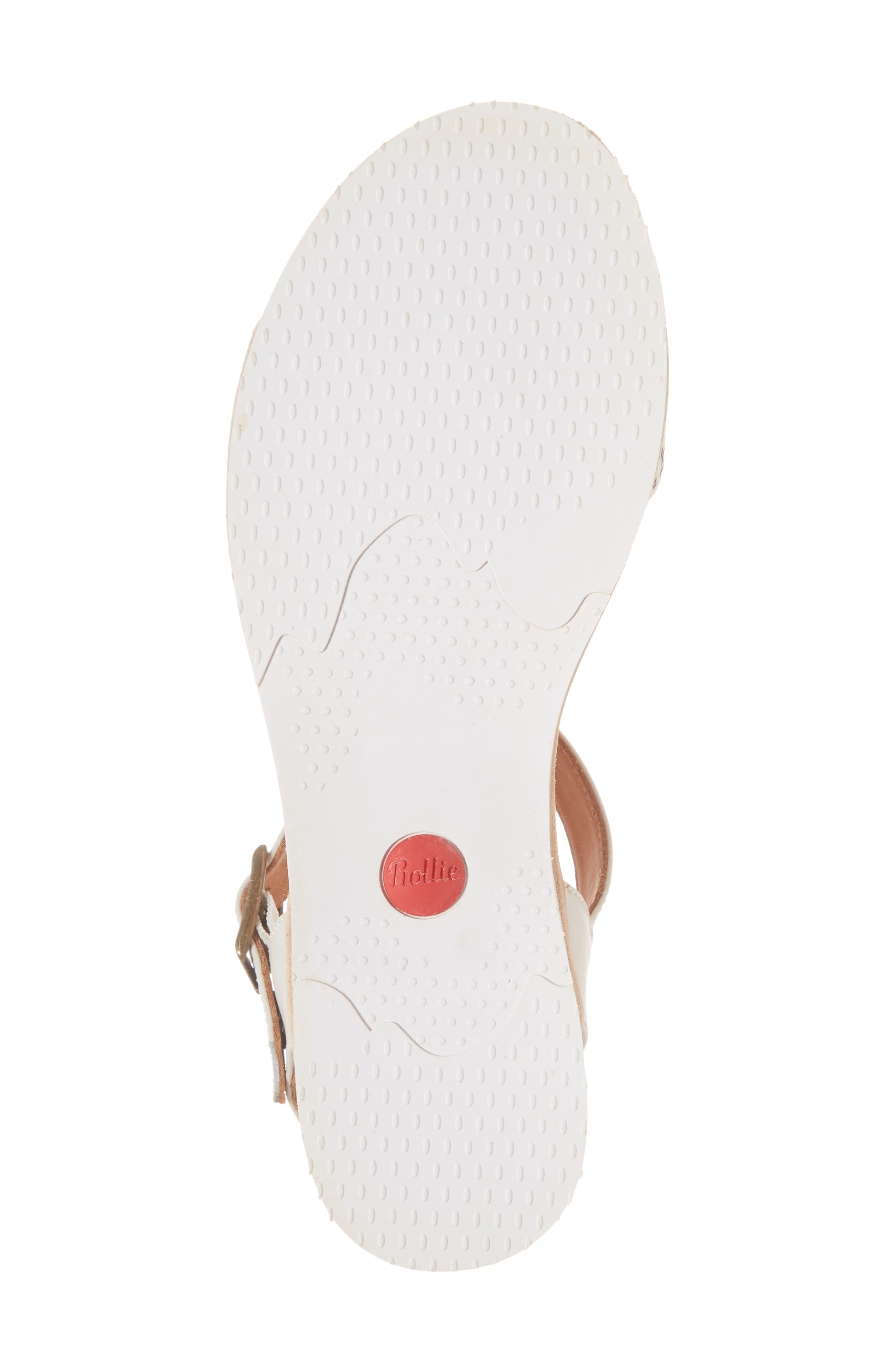 Genuine Calf Hair Sandal,                             Alternate thumbnail 3, color,                             Snow Leopard/ White Leather
