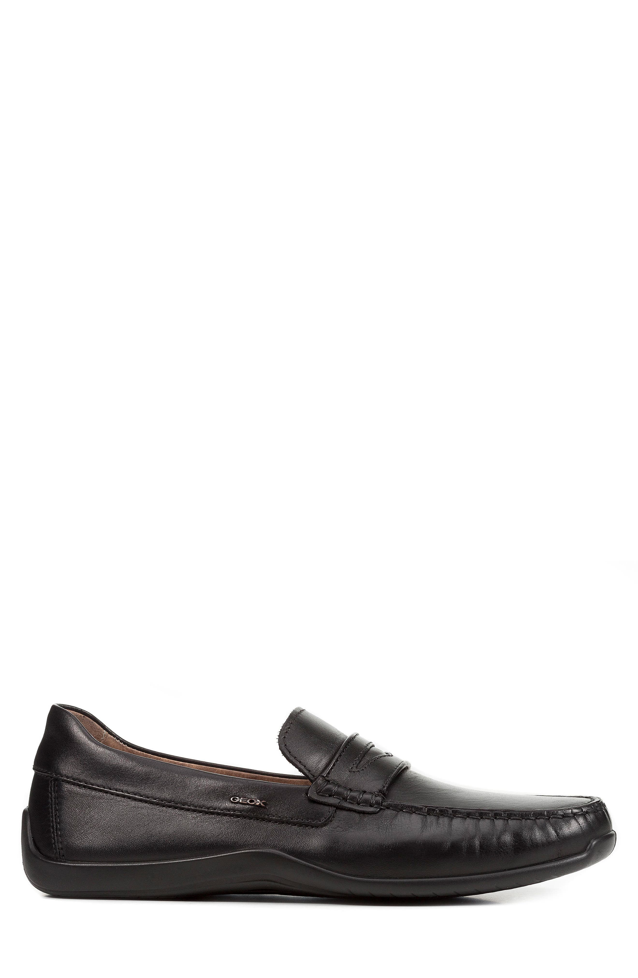 Xense Penny Loafer,                             Alternate thumbnail 5, color,                             Black Leather