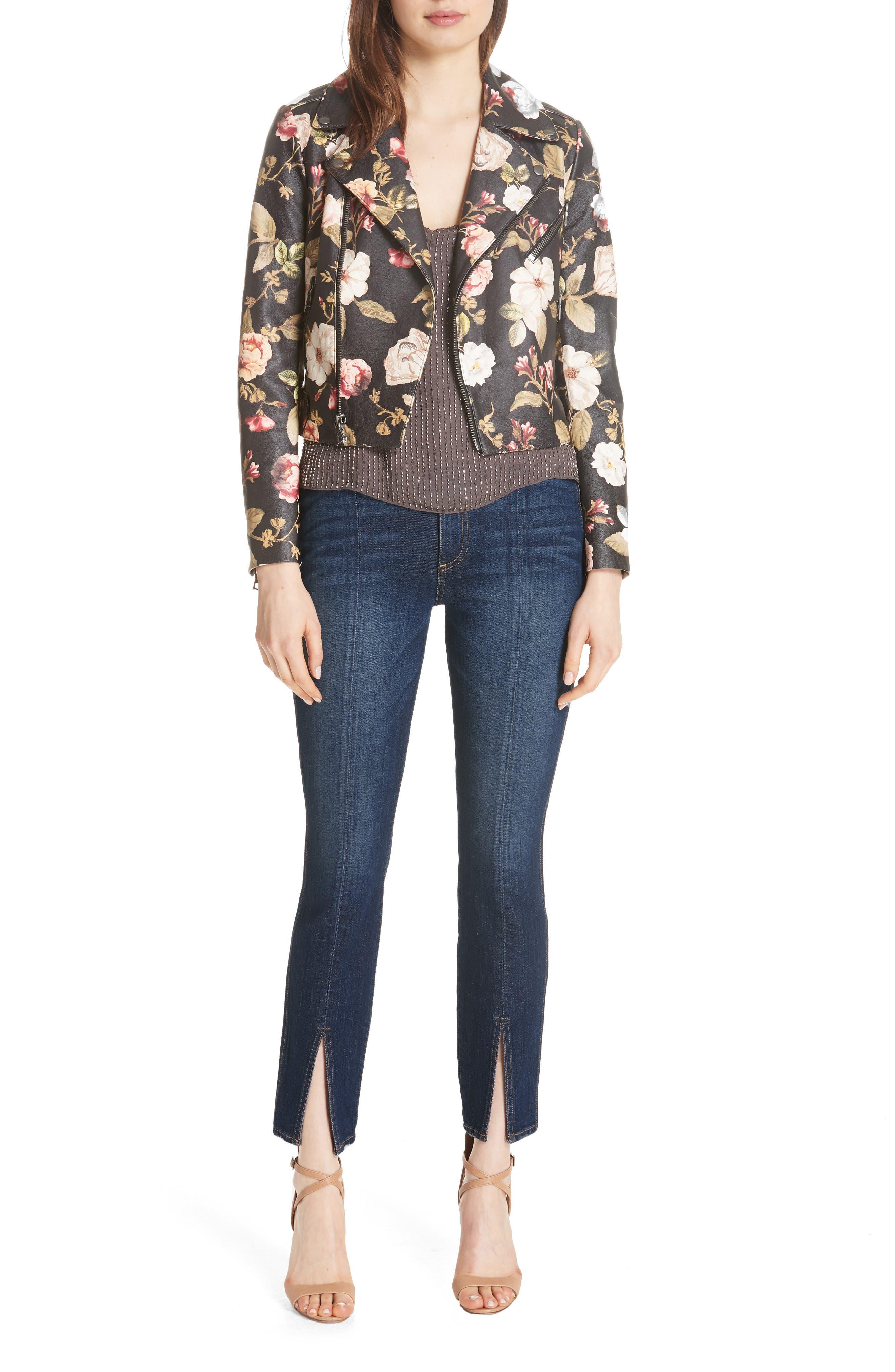 Good High Waist Front Slit Skinny Jeans,                             Alternate thumbnail 6, color,                             Good Times