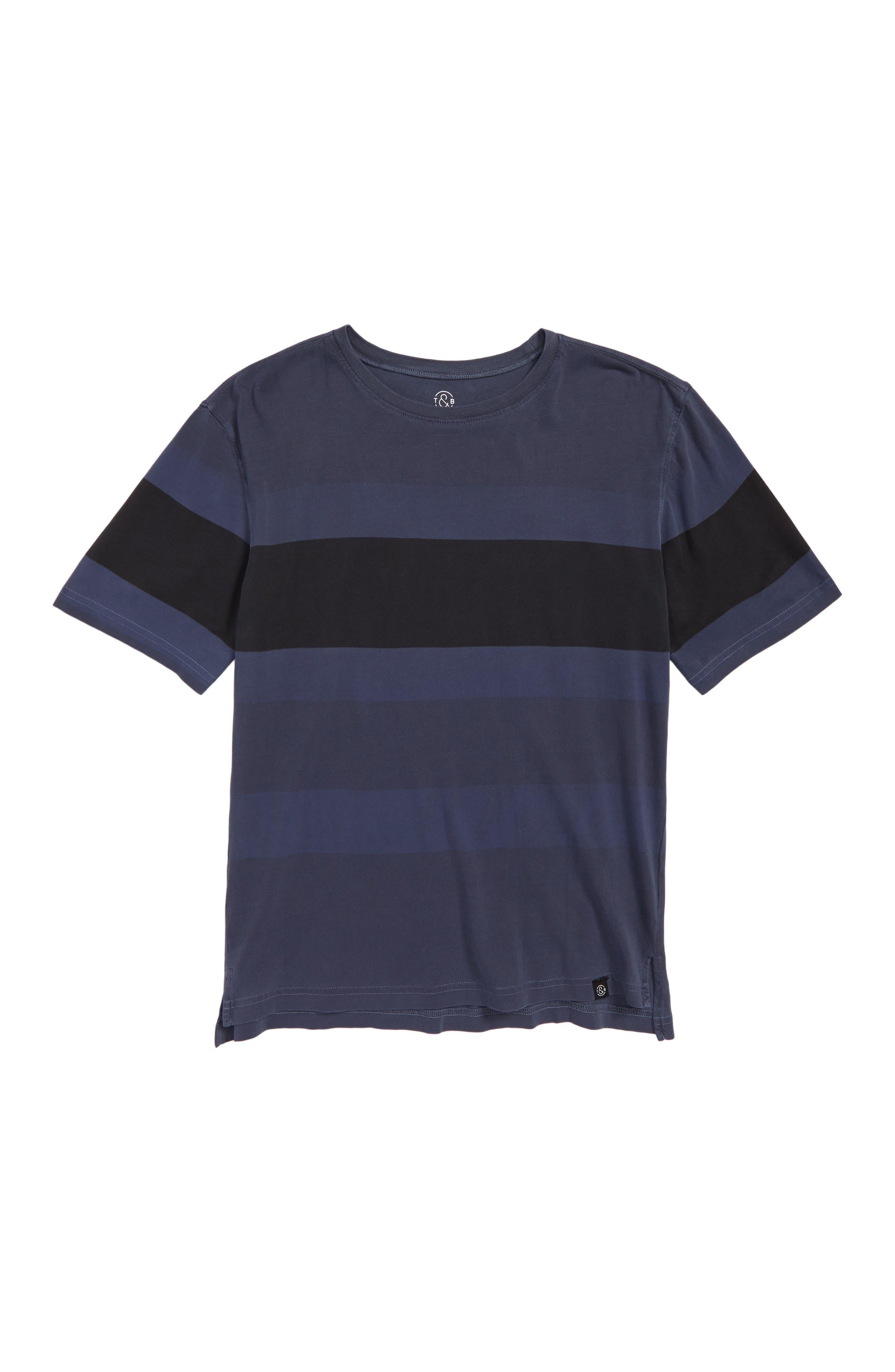 Washed Colorblock T-Shirt,                         Main,                         color, Blue Vintage Multi