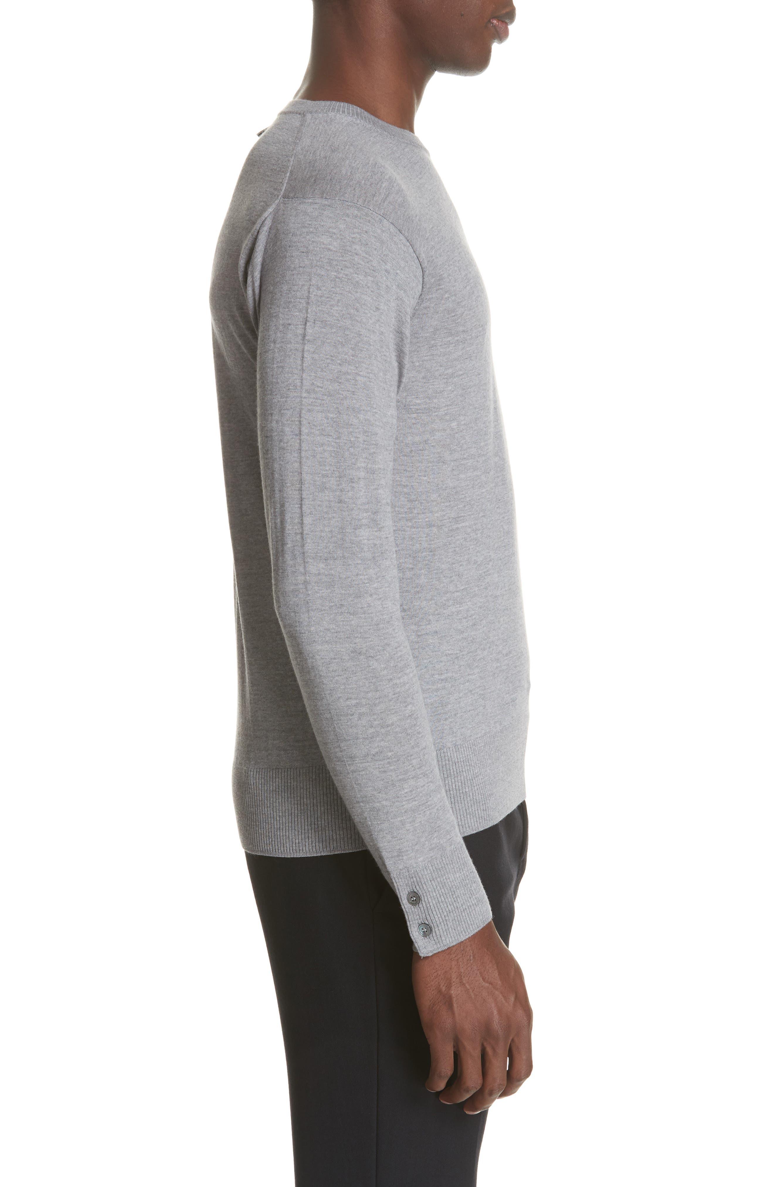 Merino Wool Pullover,                             Alternate thumbnail 5, color,                             Light Grey