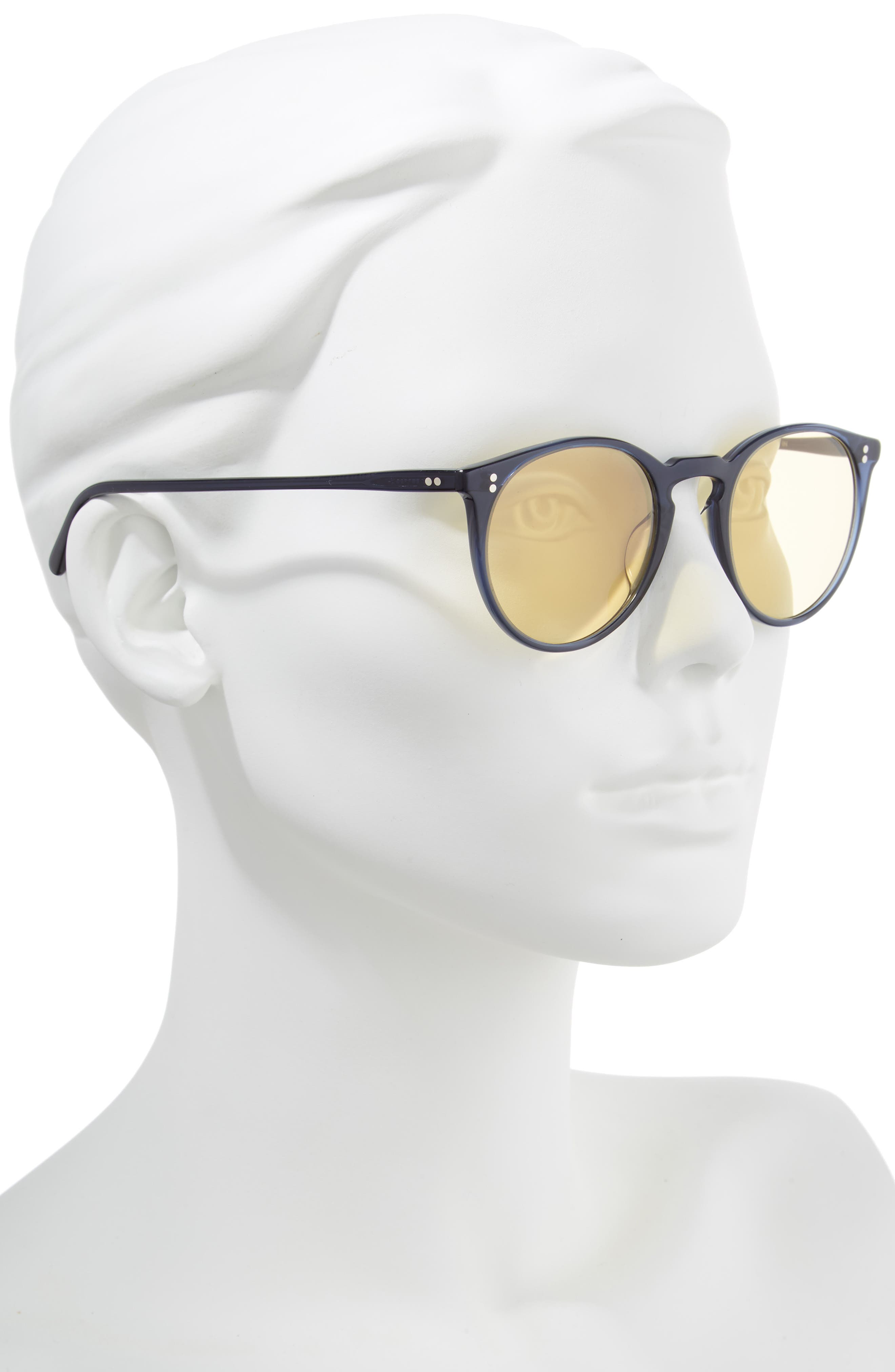 O'Malley 48mm Round Sunglasses,                             Alternate thumbnail 2, color,                             Navy