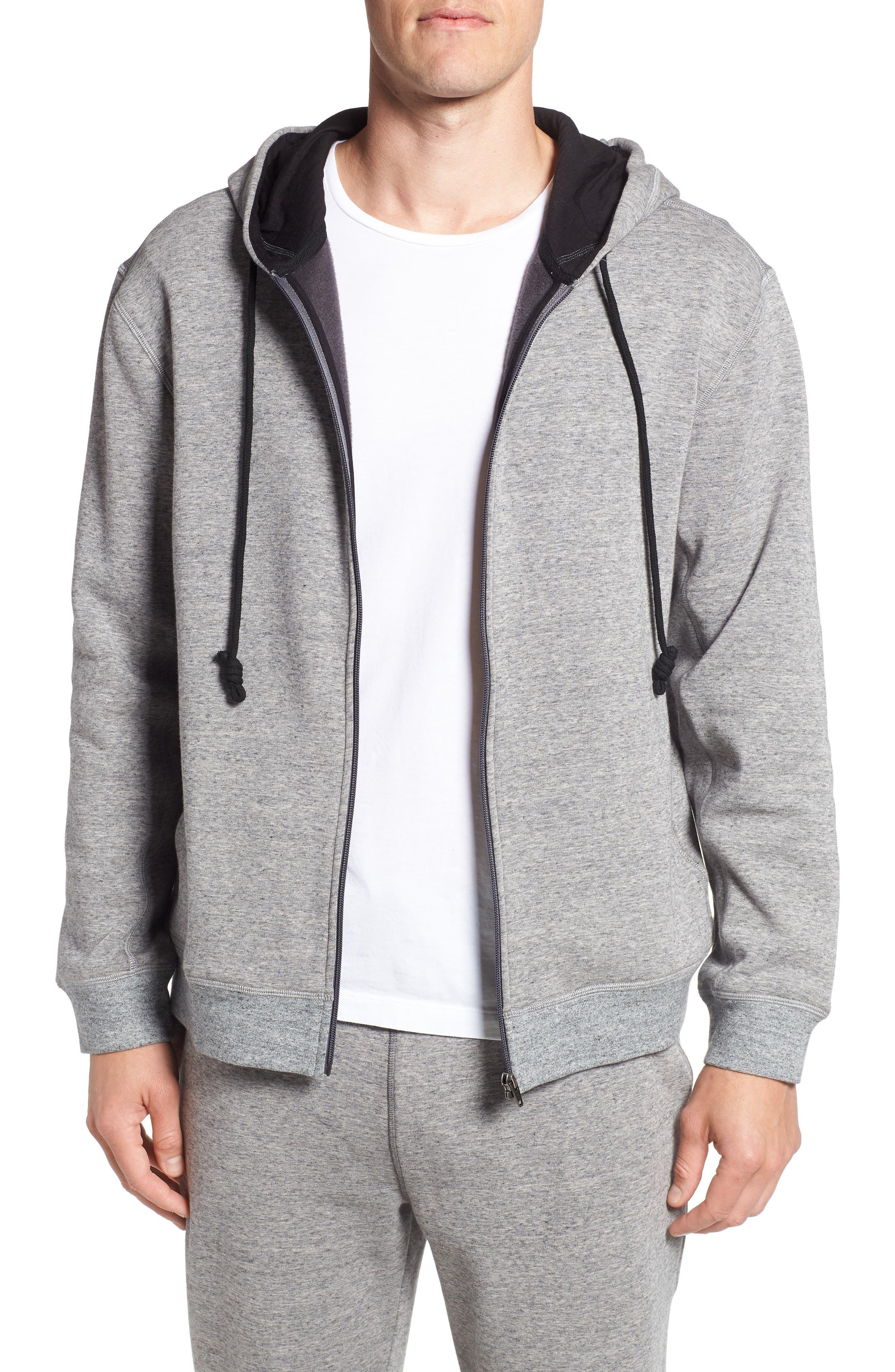Zip Hoodie,                         Main,                         color, Grey Heather