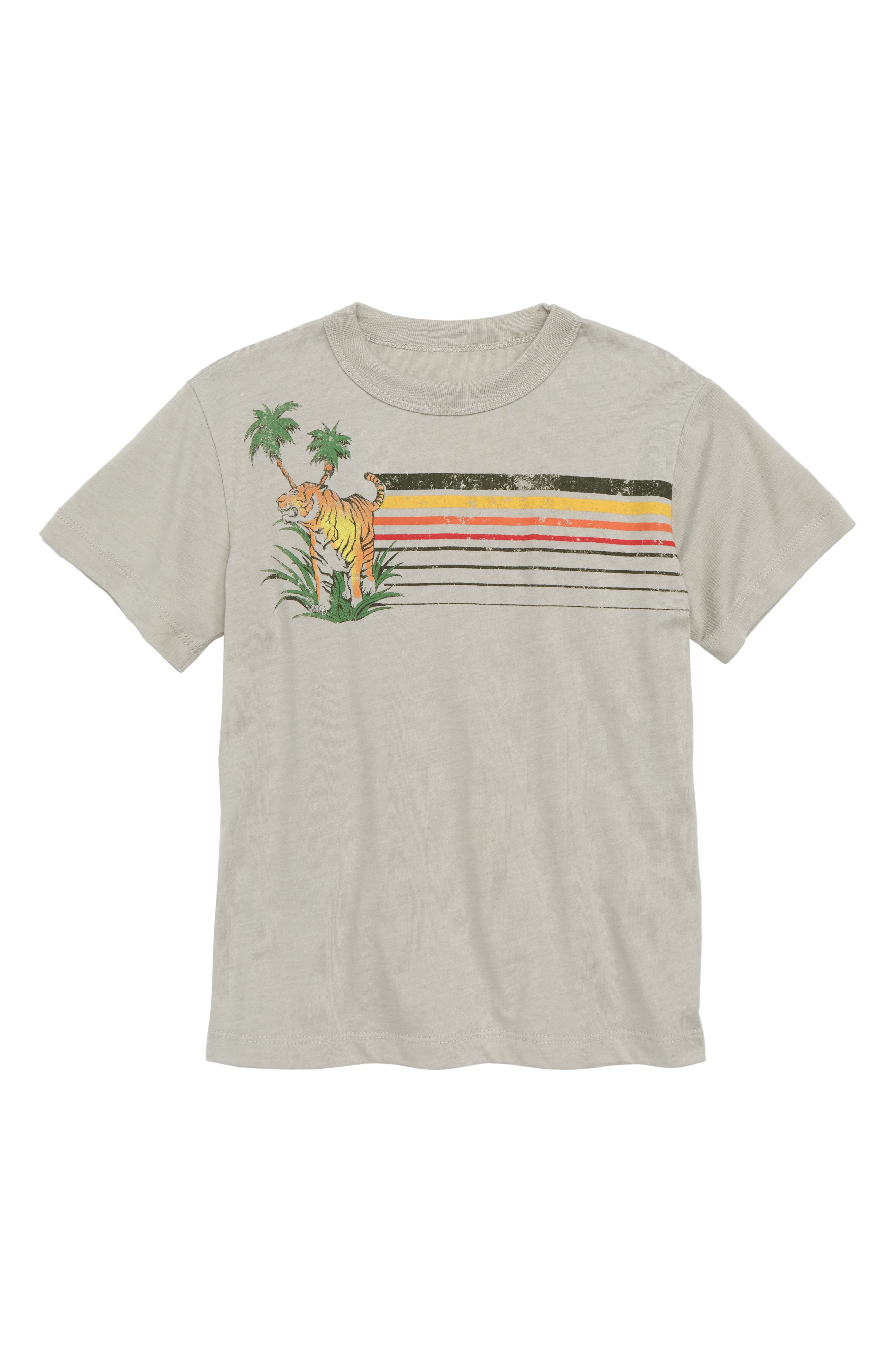 Tiger Terrain Graphic T-Shirt,                             Main thumbnail 1, color,                             Pelican