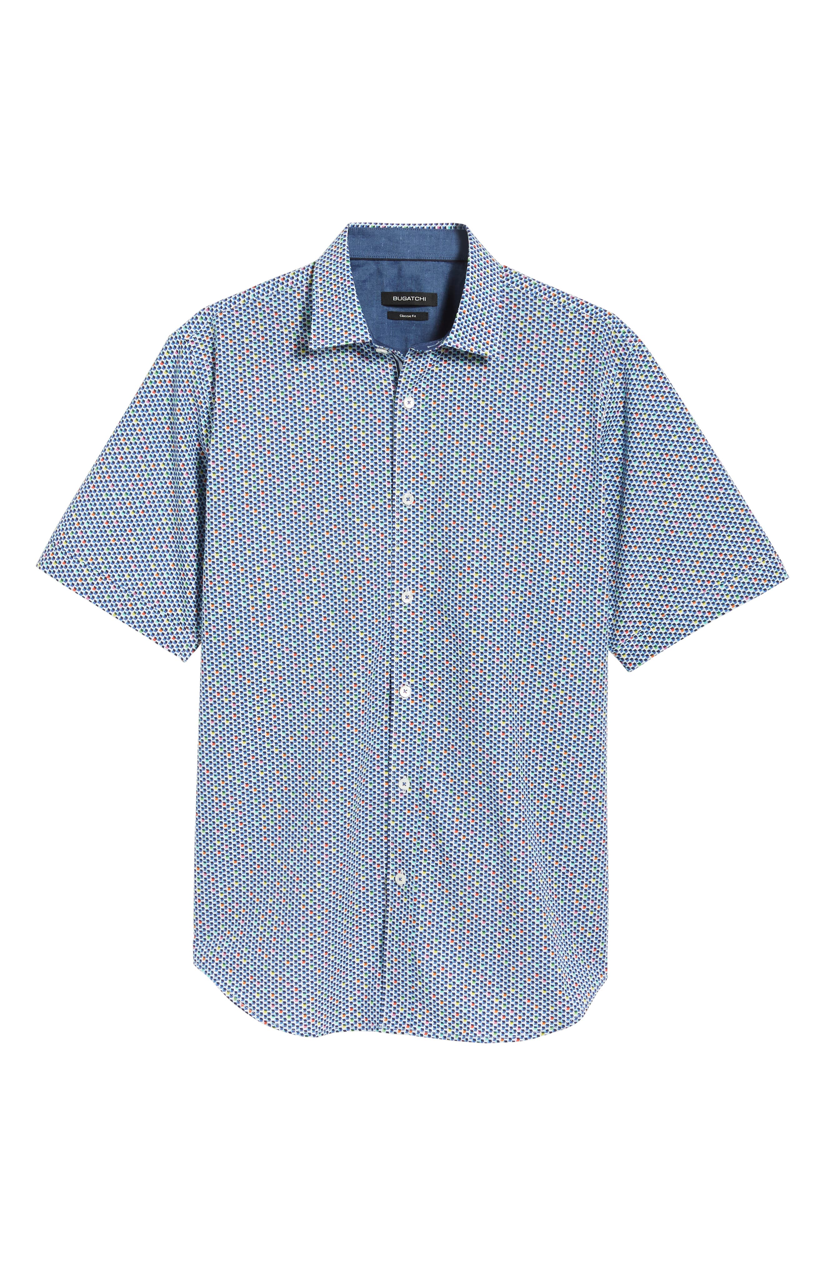 Classic Fit Print Sport Shirt,                             Alternate thumbnail 5, color,                             Candy