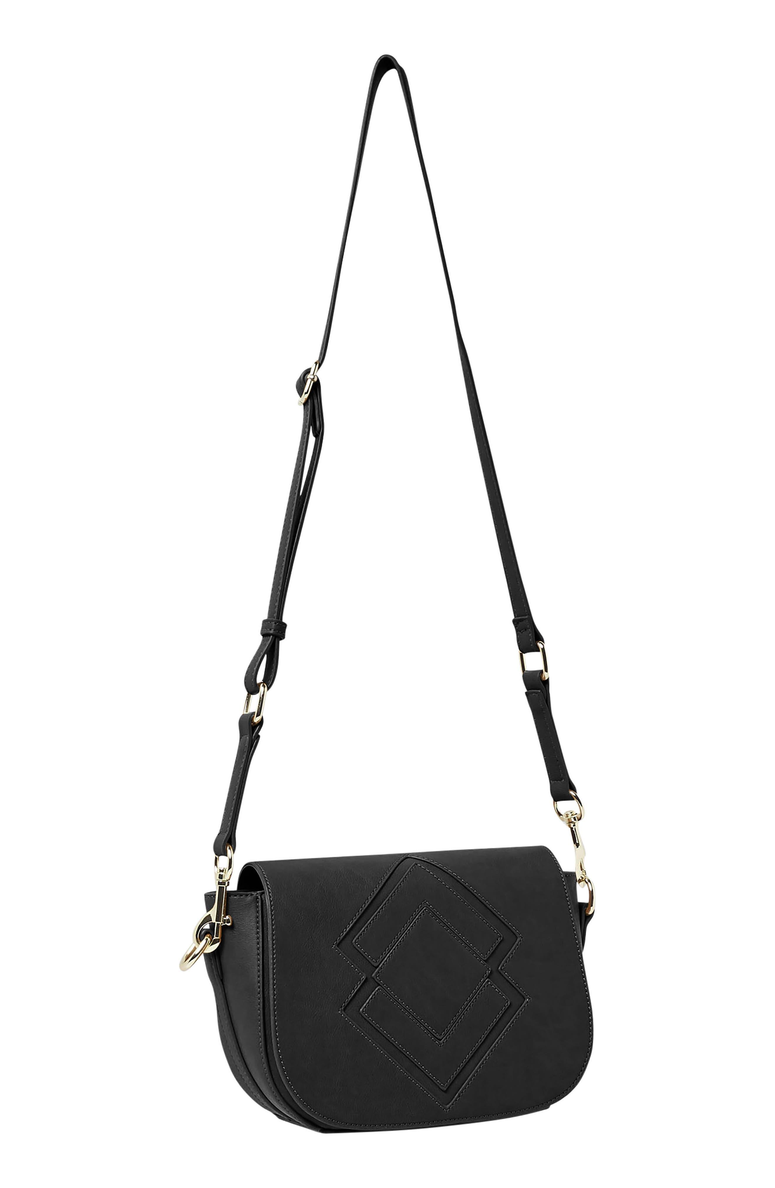 Ventura Vegan Leather Crossbody Bag,                             Alternate thumbnail 2, color,                             Black